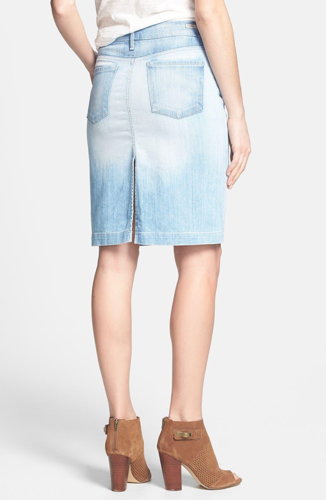 Alternate Image 2  - Citizens of Humanity 'Premium Vintage' Denim Pencil Skirt