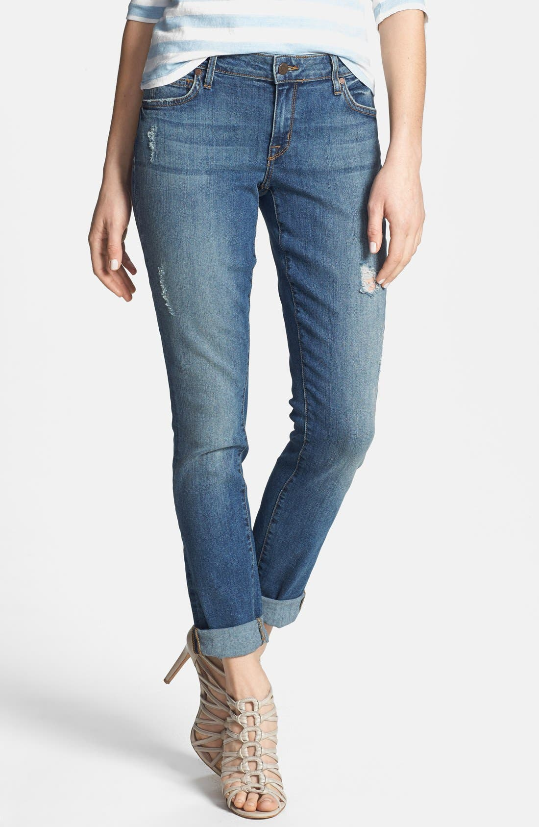 Alternate Image 1 Selected - CJ by Cookie Johnson 'Glory' Slim Boyfriend Jeans (Hitsville)