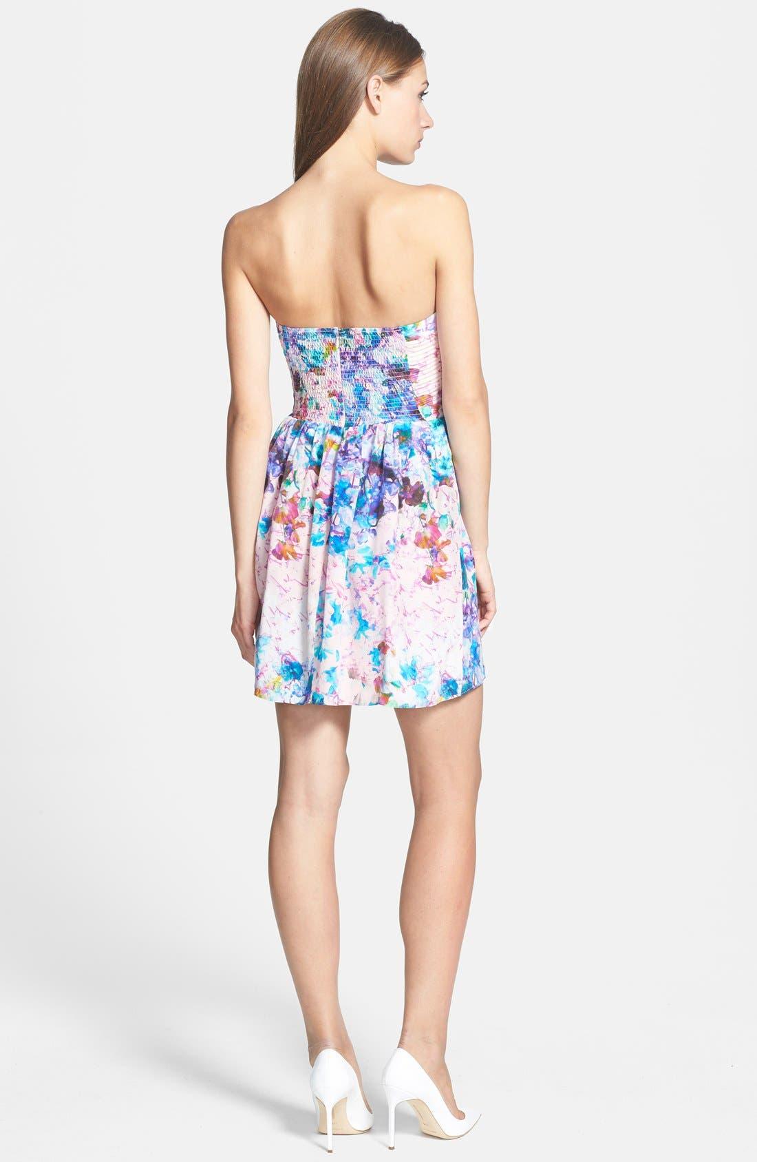 Alternate Image 2  - Parker 'Lily' Print Silk Fit & Flare Dress