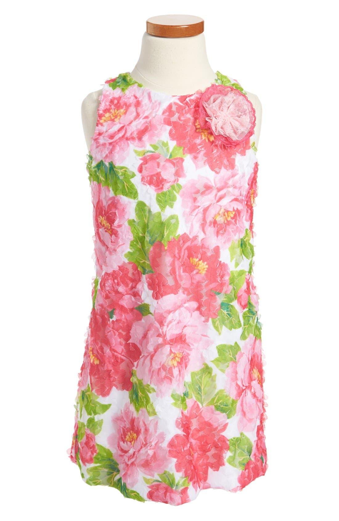Main Image - Pippa & Julie Floral A-Line Dress (Little Girls & Big Girls)