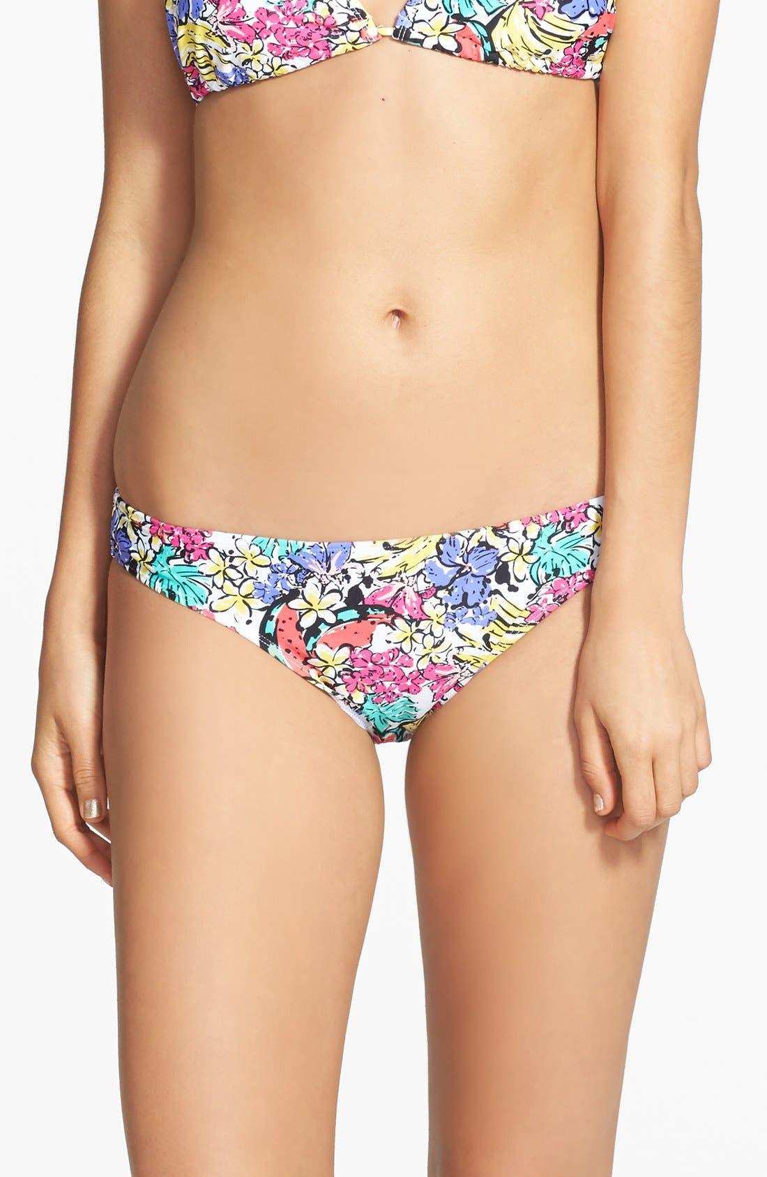 Main Image - BP. Undercover Print Basic Bikini Bottoms (Juniors)