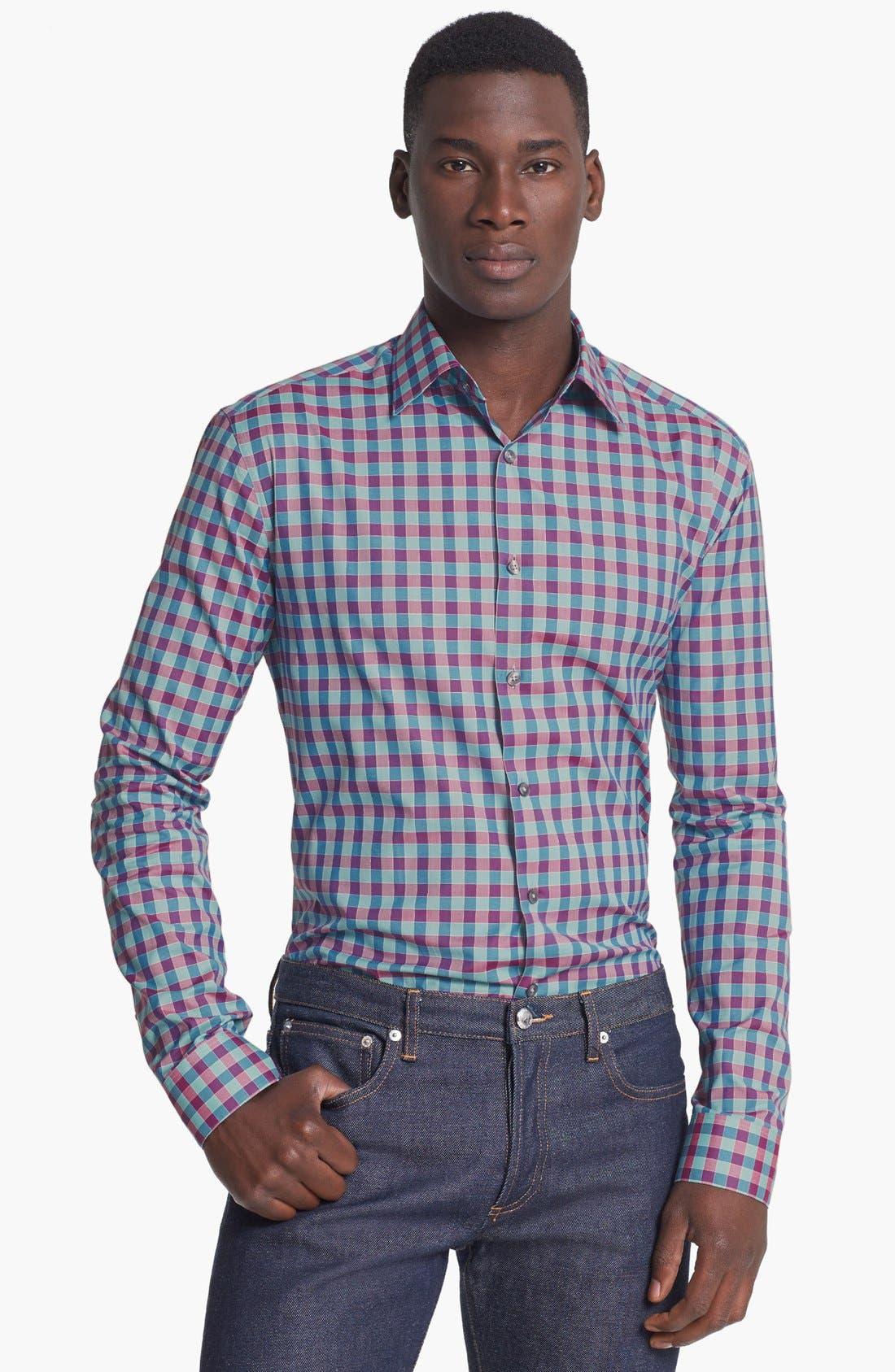Main Image - Paul Smith London Slim Fit Gingham Dress Shirt