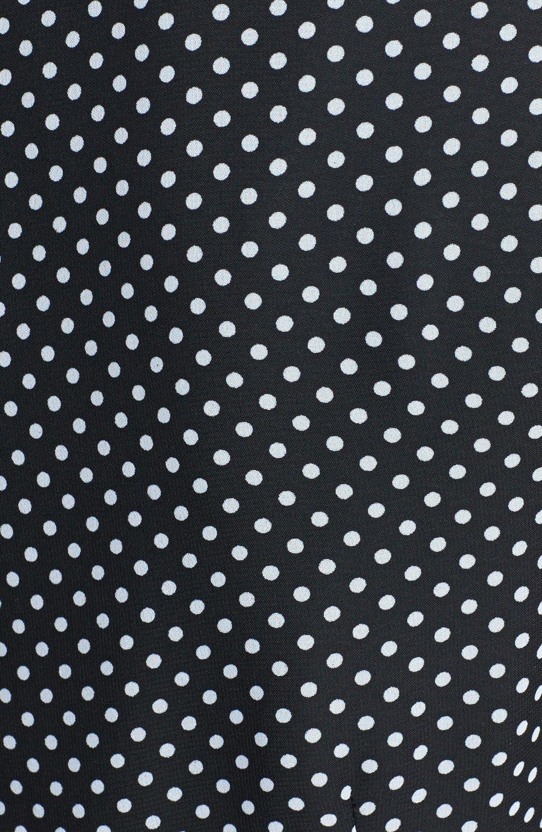 Alternate Image 4  - Adrianna Papell Polka Dot Cutout Fit & Flare Dress (Regular & Petite)