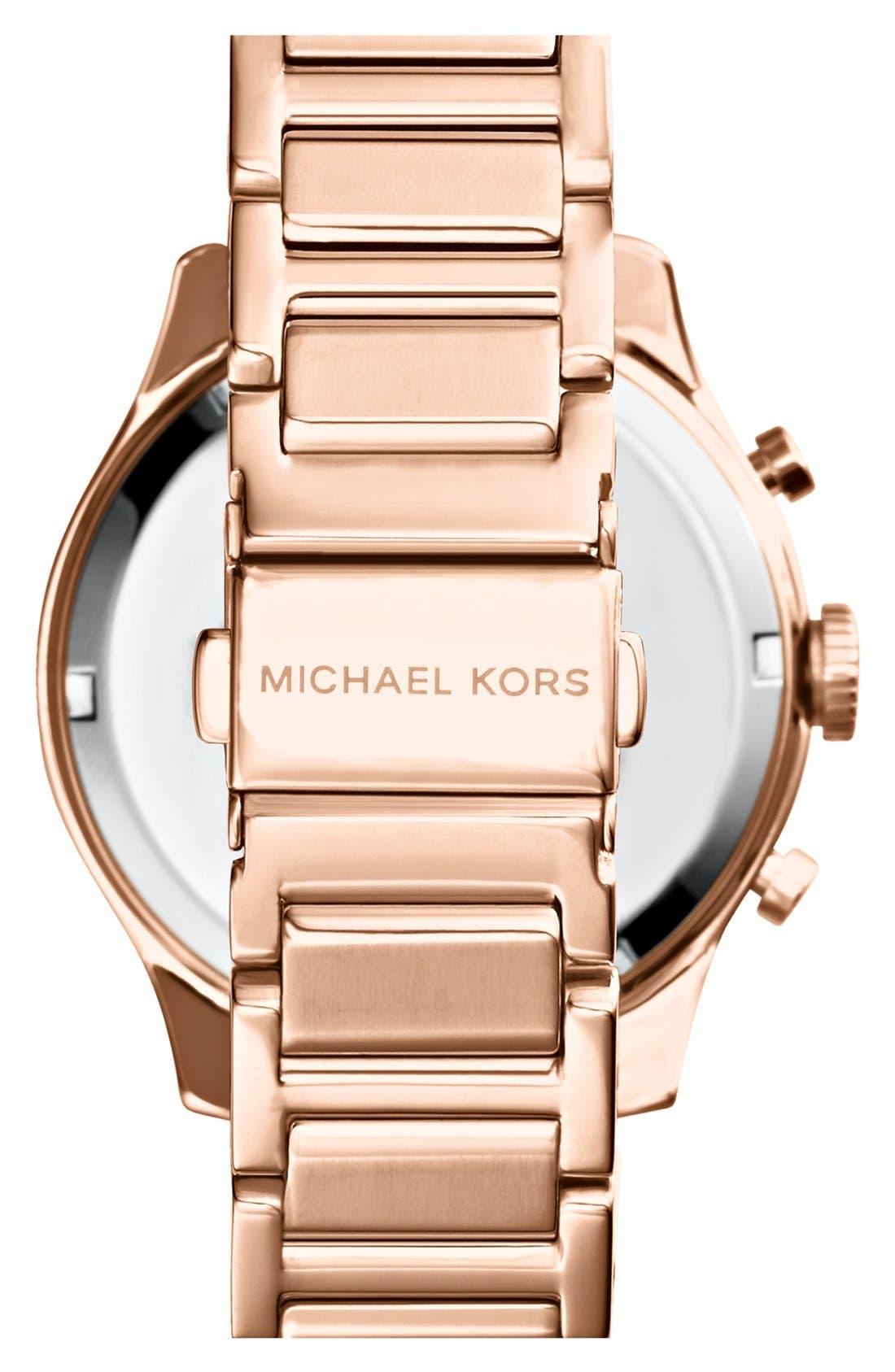 Alternate Image 2  - Michael Kors 'Bailey' Chronograph Bracelet Watch, 44mm