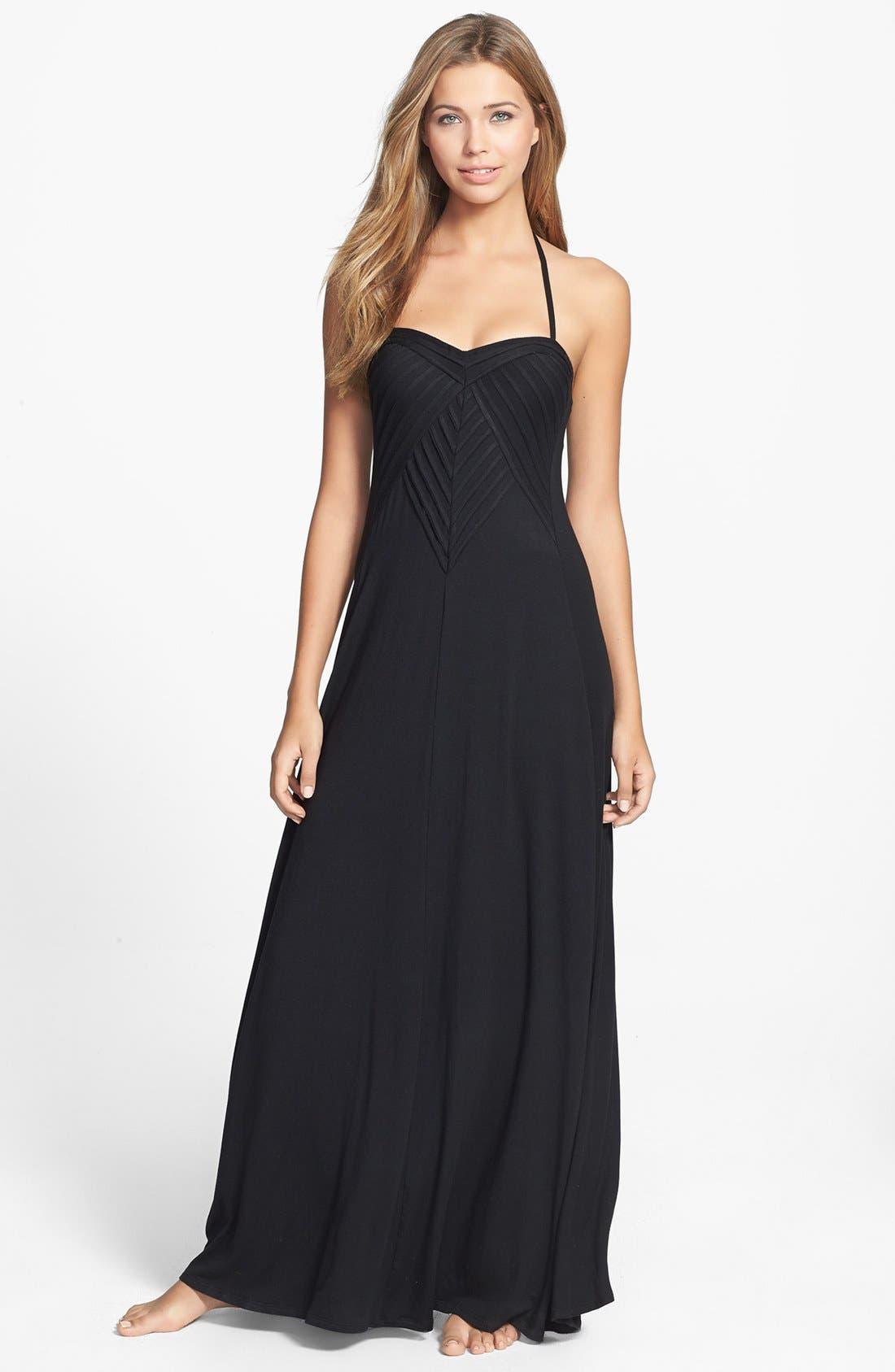 Main Image - Robin Piccone 'Karina' Pleat Cover-Up Maxi Dress