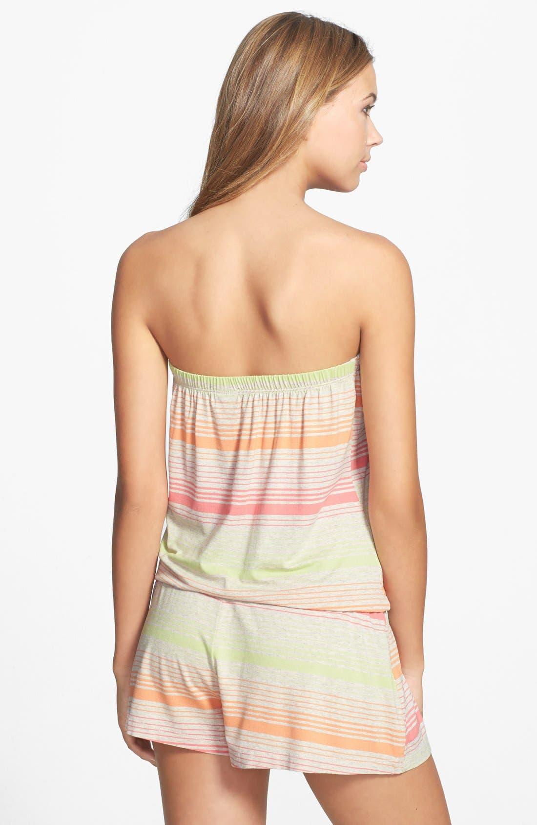 Alternate Image 2  - Lucky Brand Swimwear 'Neutral Territory' Strapless Cover-Up Romper