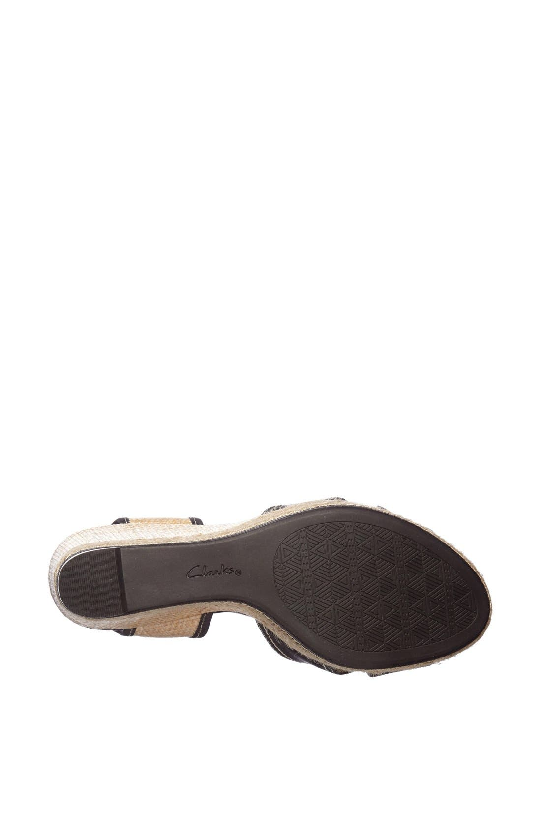 Alternate Image 3  - Clarks® 'Amelia Air' Espadrille Wedge Sandal