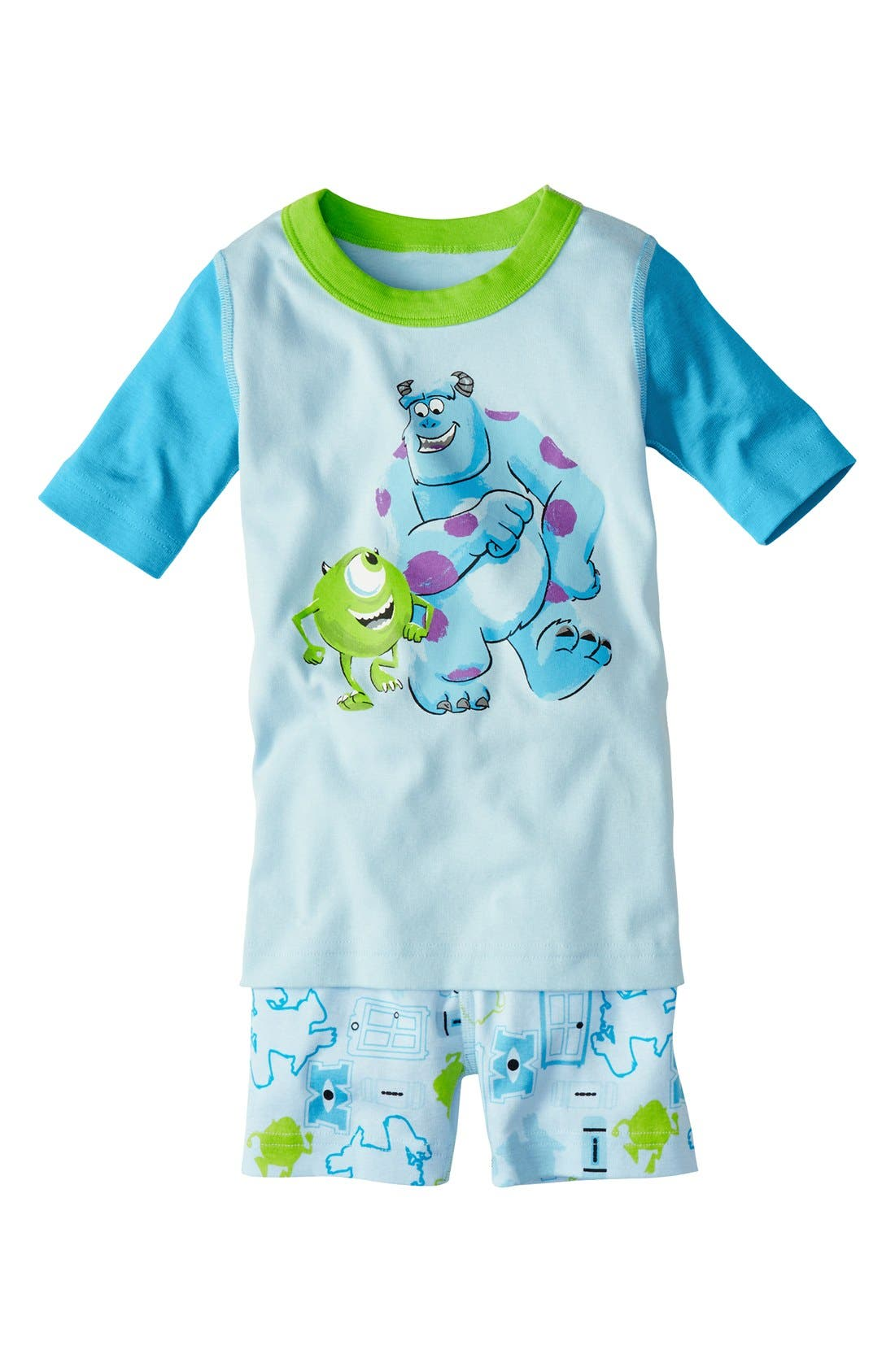 Alternate Image 1 Selected - Hanna Andersson 'Monsters, Inc.' Two-Piece Organic Cotton Fitted Pajamas (Toddler Boys, Little Boys & Big Boys)