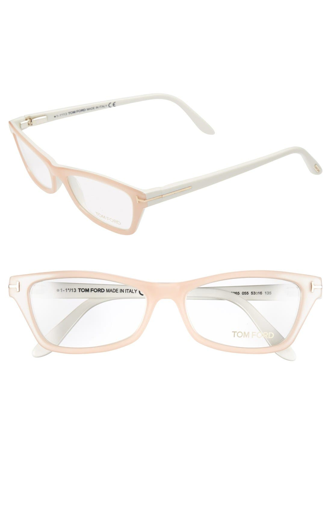 Alternate Image 1 Selected - Tom Ford Cat Eye 53mm Optical Glasses
