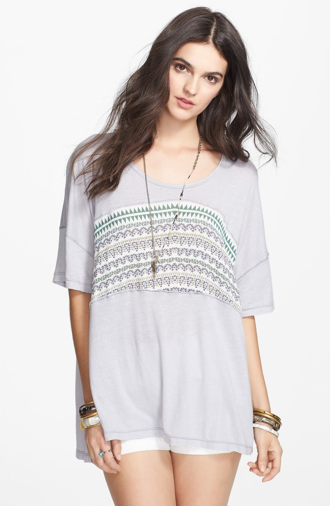 Main Image - Free People 'Stars of Orion' V-Back High/Low Tee