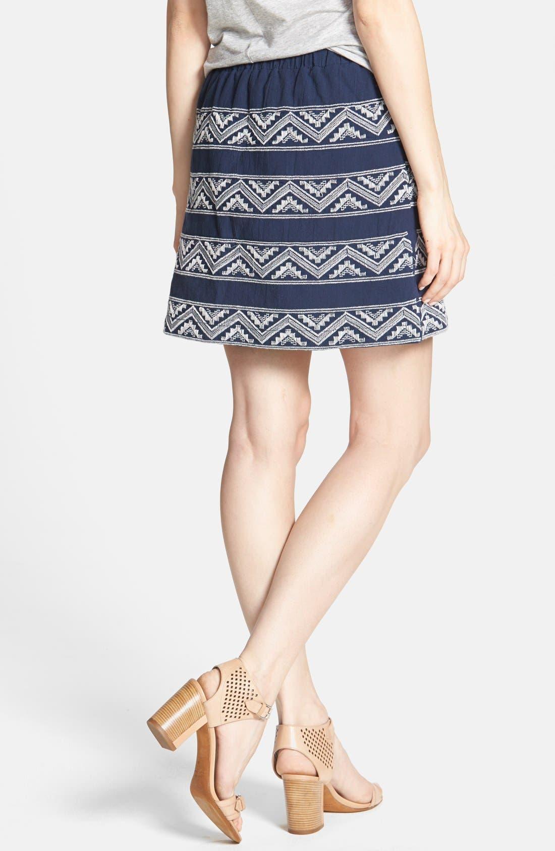 Alternate Image 2  - Hinge® Embroidered A-Line Skirt