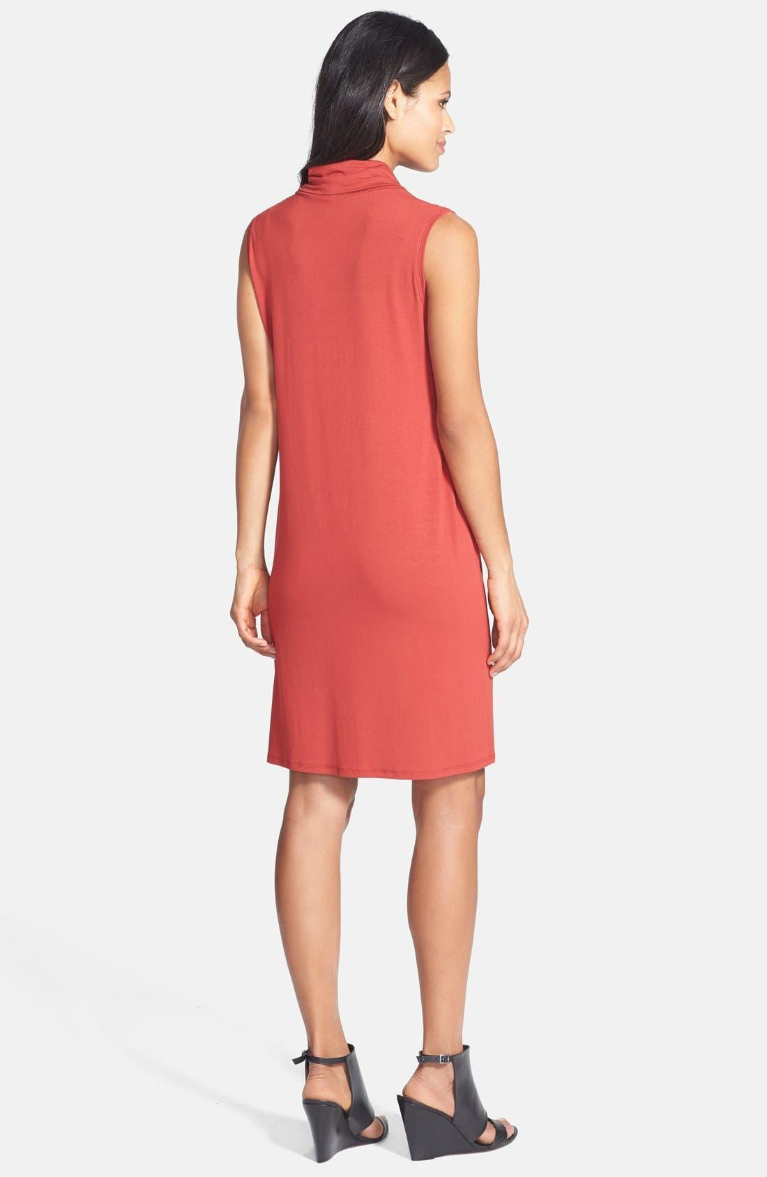 Alternate Image 2  - Eileen Fisher Cowl Neck Jersey Dress (Regular & Petite)