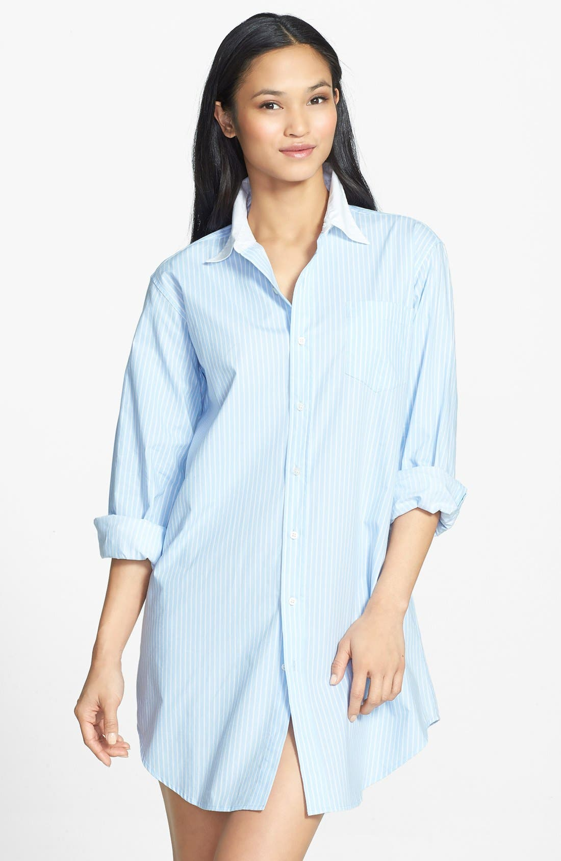 Alternate Image 1 Selected - Lauren Ralph Lauren Poplin Sleep Shirt