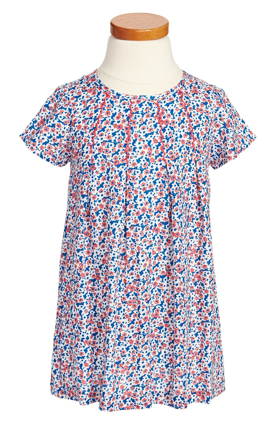 Alternate Image 1 Selected - Tucker + Tate 'Patricia' Pleated Print Dress (Little Girls & Big Girls)