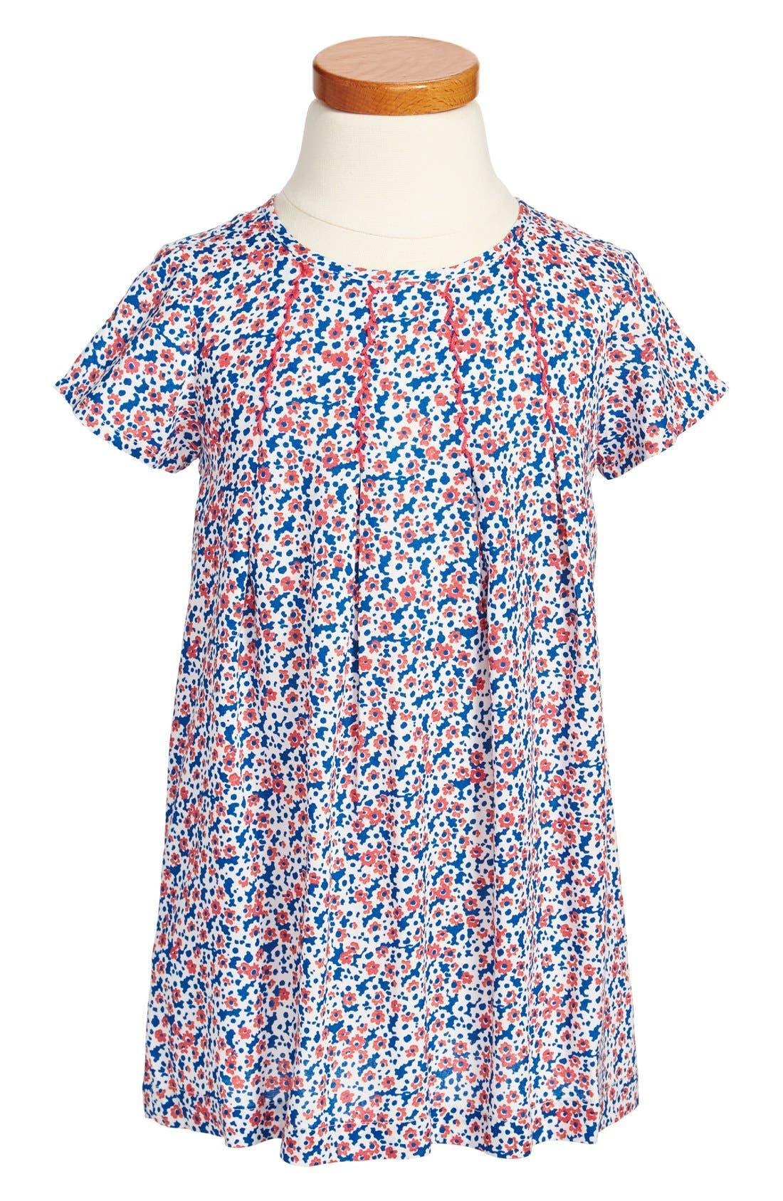 Main Image - Tucker + Tate 'Patricia' Pleated Print Dress (Little Girls & Big Girls)
