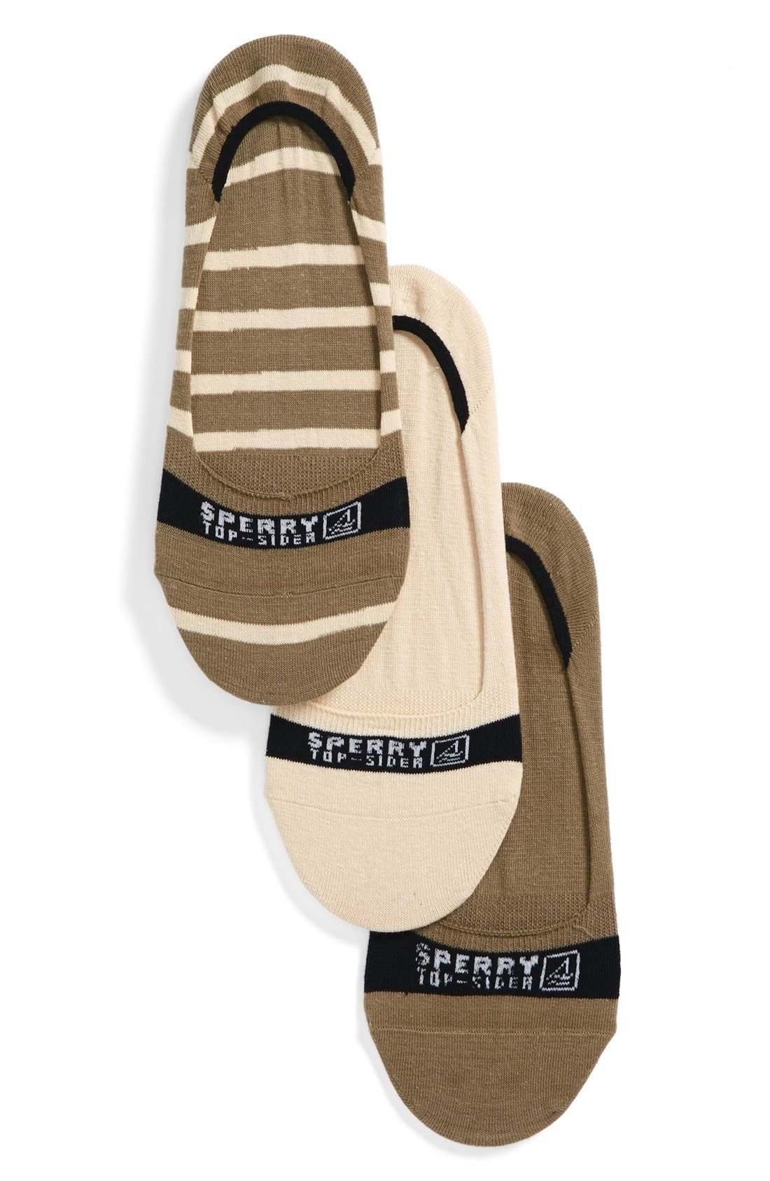 Main Image - Sperry Signature Invisible Assorted 3-Pack Socks