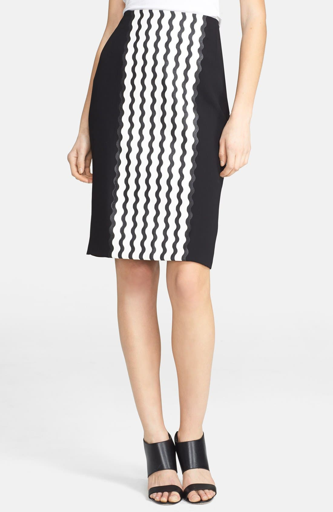 Alternate Image 1 Selected - Opening Ceremony 'Wave' Crepe Pencil Skirt