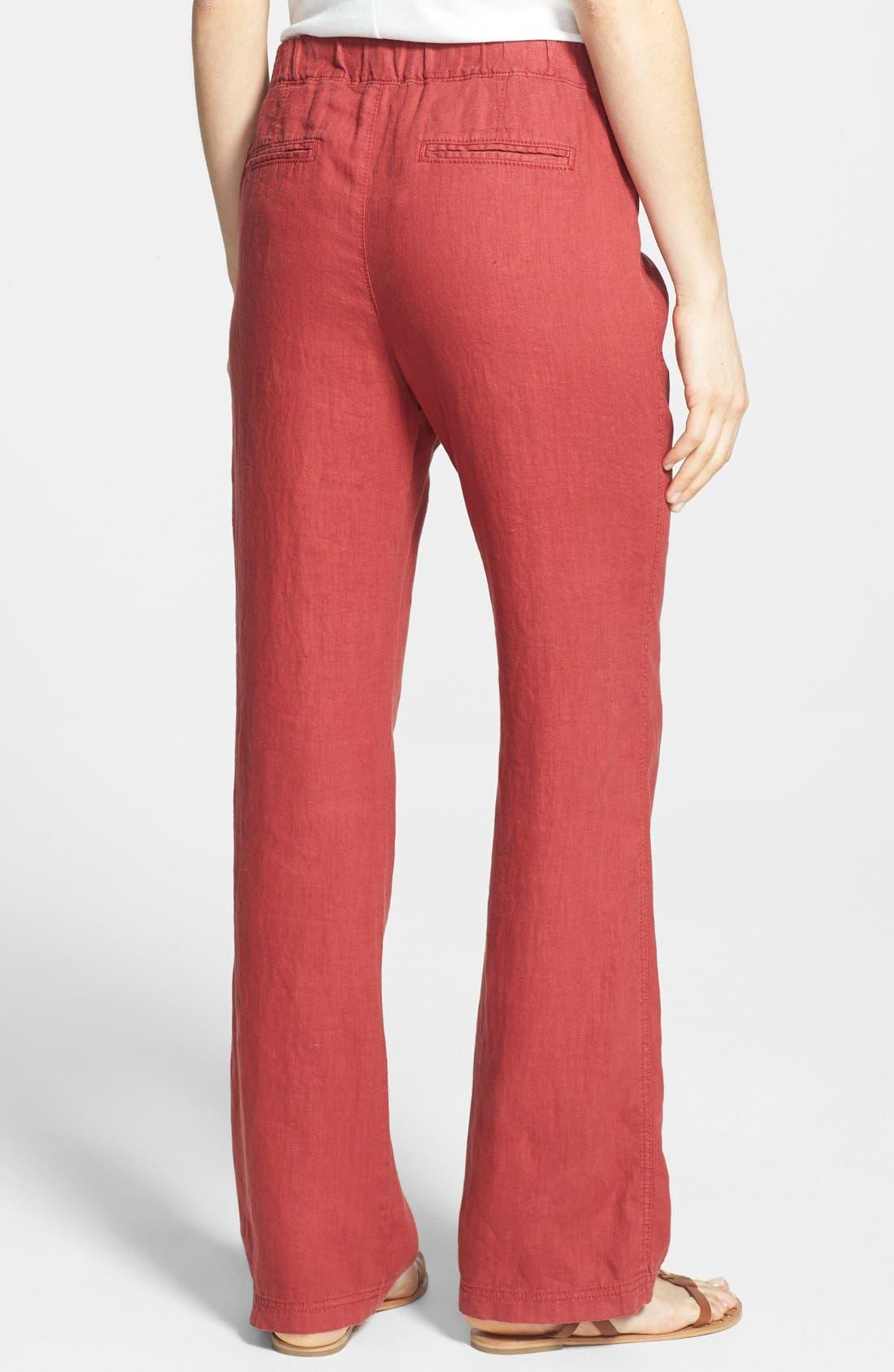 Alternate Image 2  - Caslon® Drawstring Waist Linen Pants (Regular & Petite)