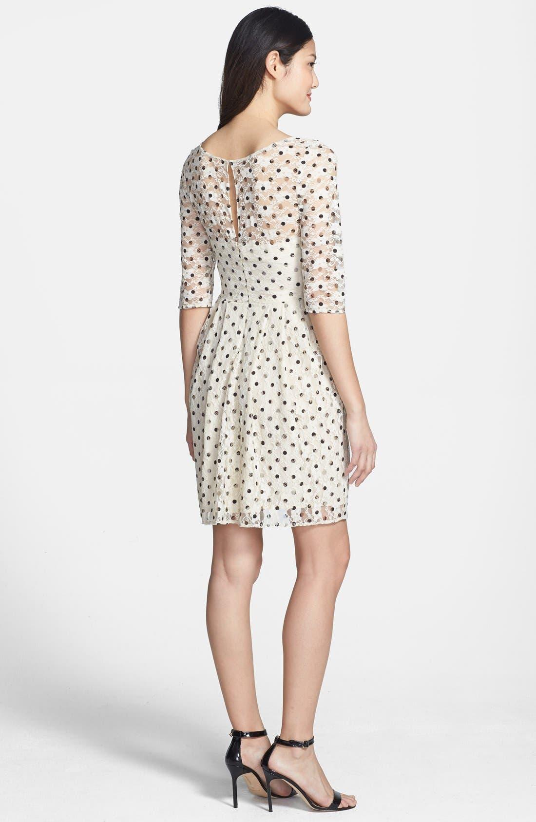 Alternate Image 2  - Betsey Johnson Lace Dot Fit & Flare Dress