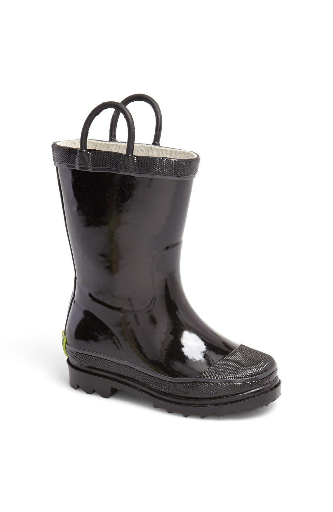 'Firechief 2' Rain Boot,                             Main thumbnail 1, color,                             Black