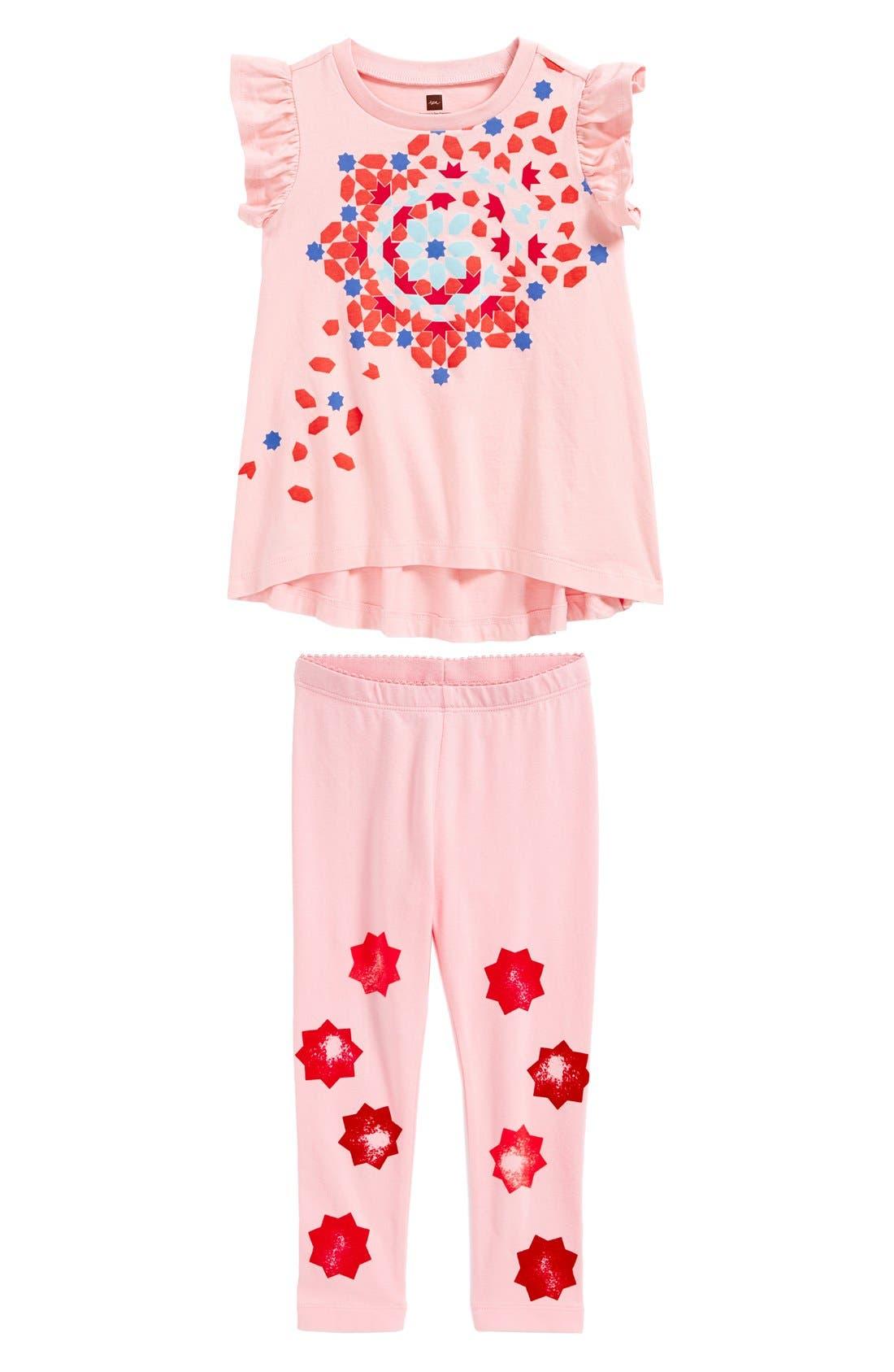 Main Image - Tea Collection Tee & Leggings (Toddler Girls)