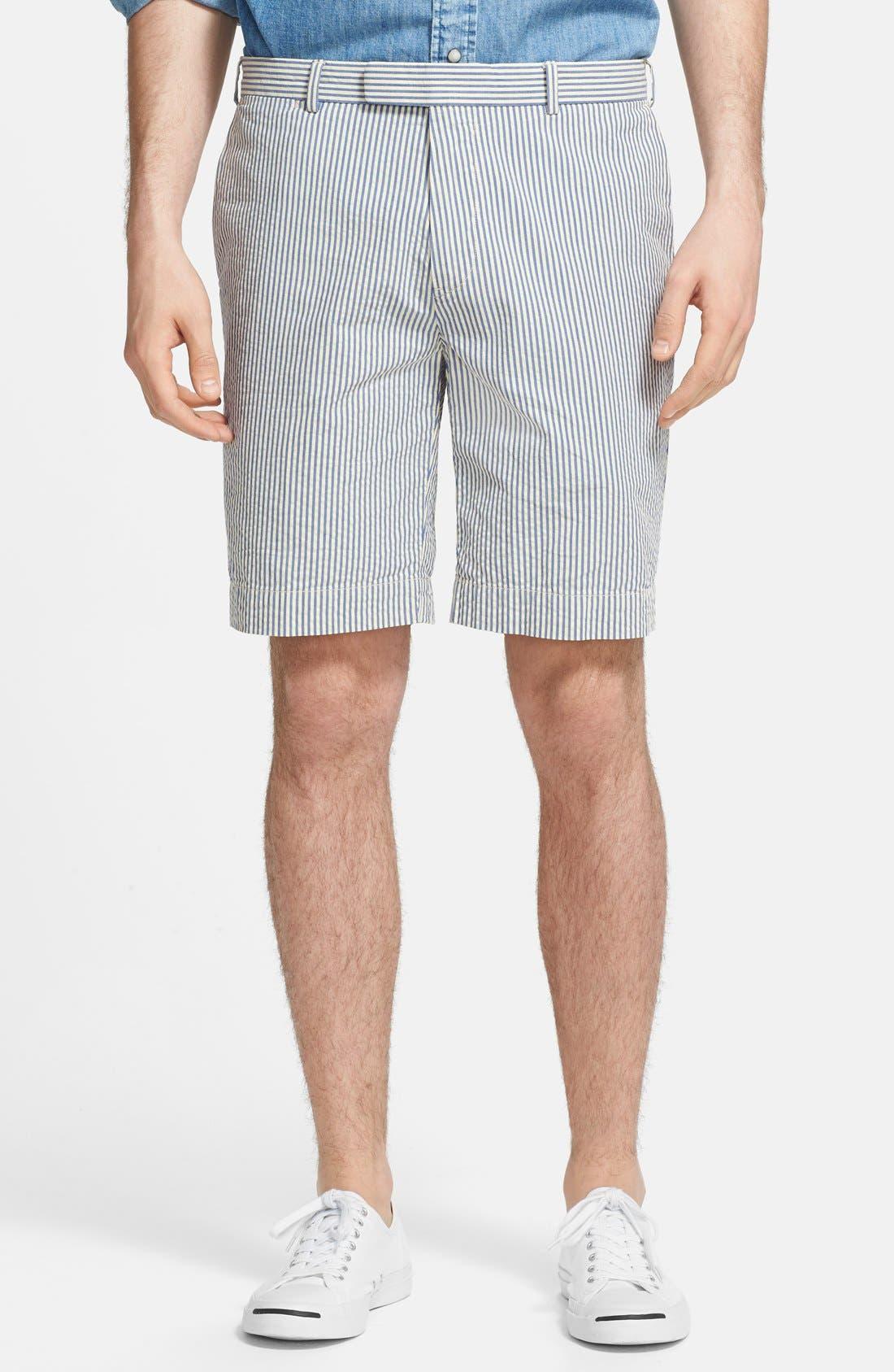 Main Image - Polo Ralph Lauren Straight Fit Cotton Seersucker Shorts