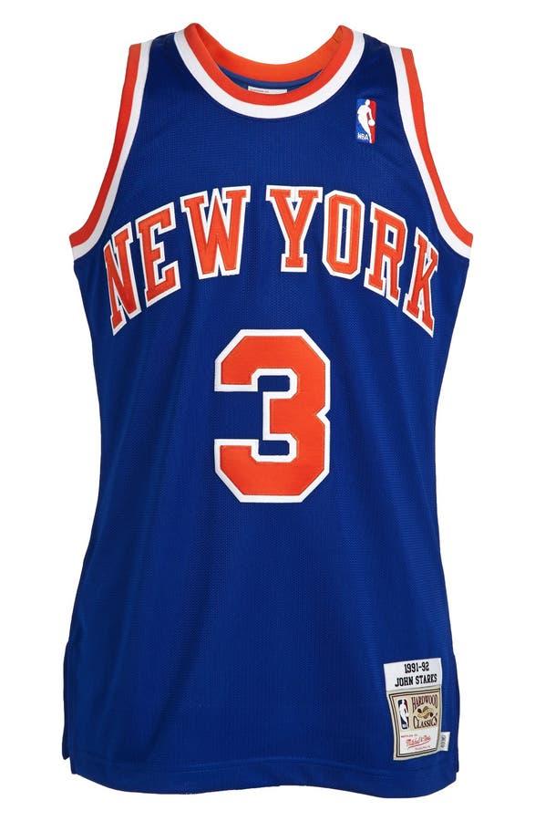 4e2c96d4eae3 ... Image - Mitchell Ness New York Knicks 1991-1992 - John Starks. Mens New  York Knicks Larry Johnson Mitchell Ness Royal Blue 1998 Authentic Basketball  ...