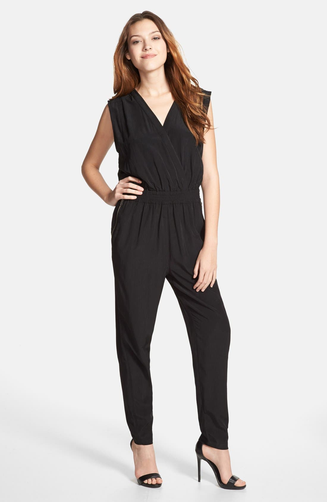 Alternate Image 1 Selected - Olive & Oak Wrap Front Jumpsuit