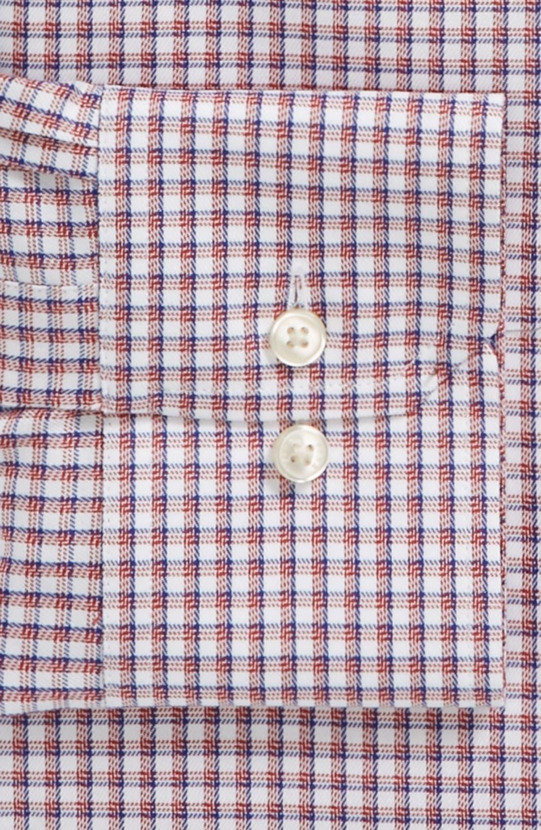 Alternate Image 2  - Thomas Pink 'Cantwell' Slim Fit Traveler Check Non-Iron Dress Shirt