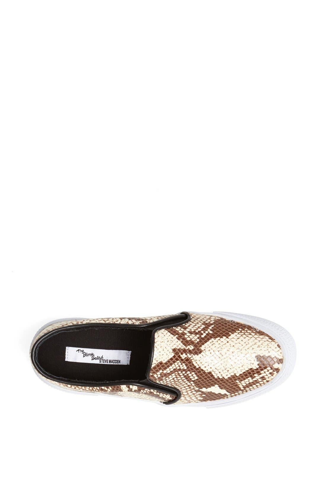 Alternate Image 3  - The Blonde Salad x Steve Madden 'NYC' Snake Embossed Leather Platform Sneaker