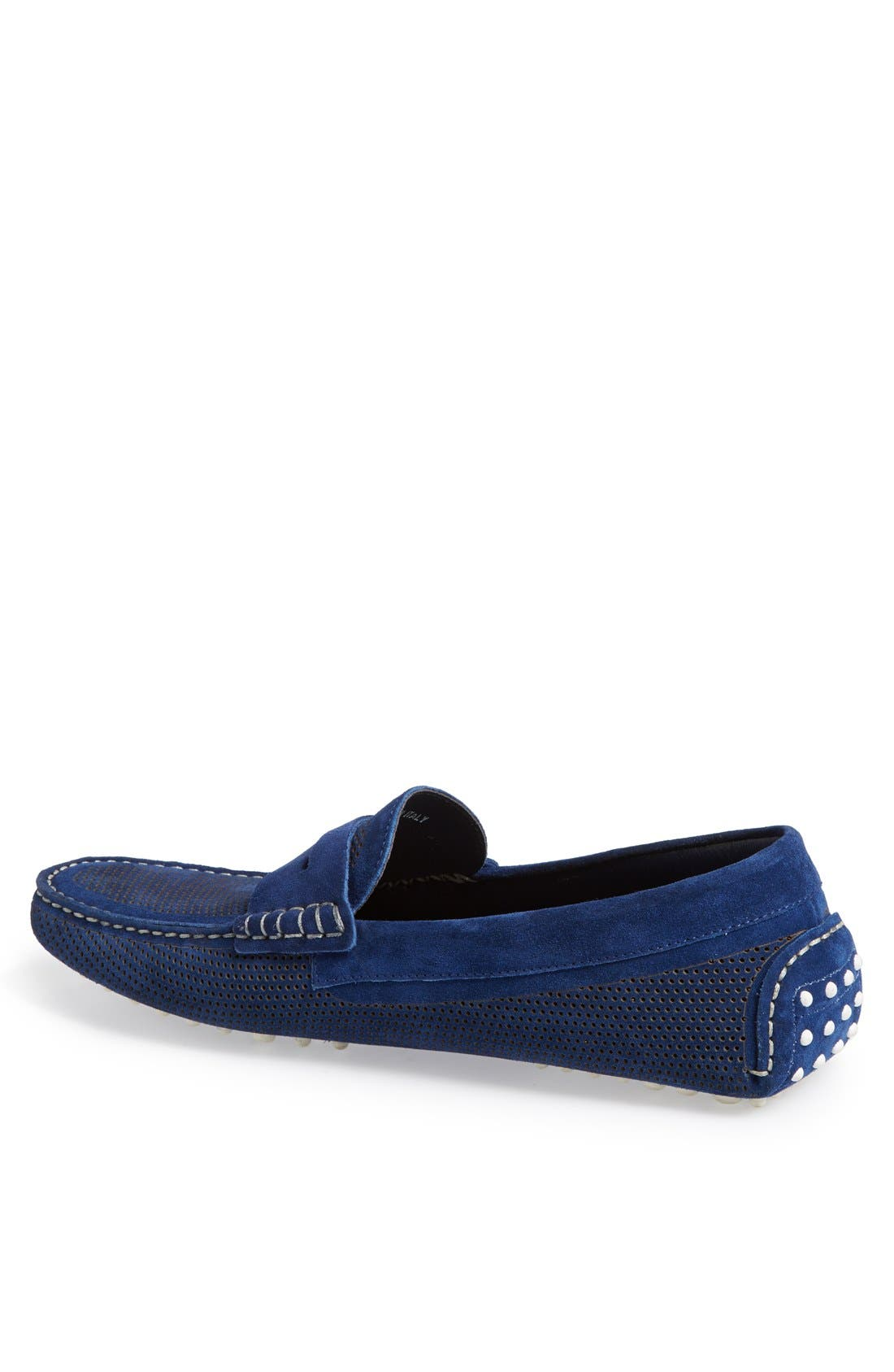 Alternate Image 2  - Canali Perforated Suede Driving Shoe (Men)