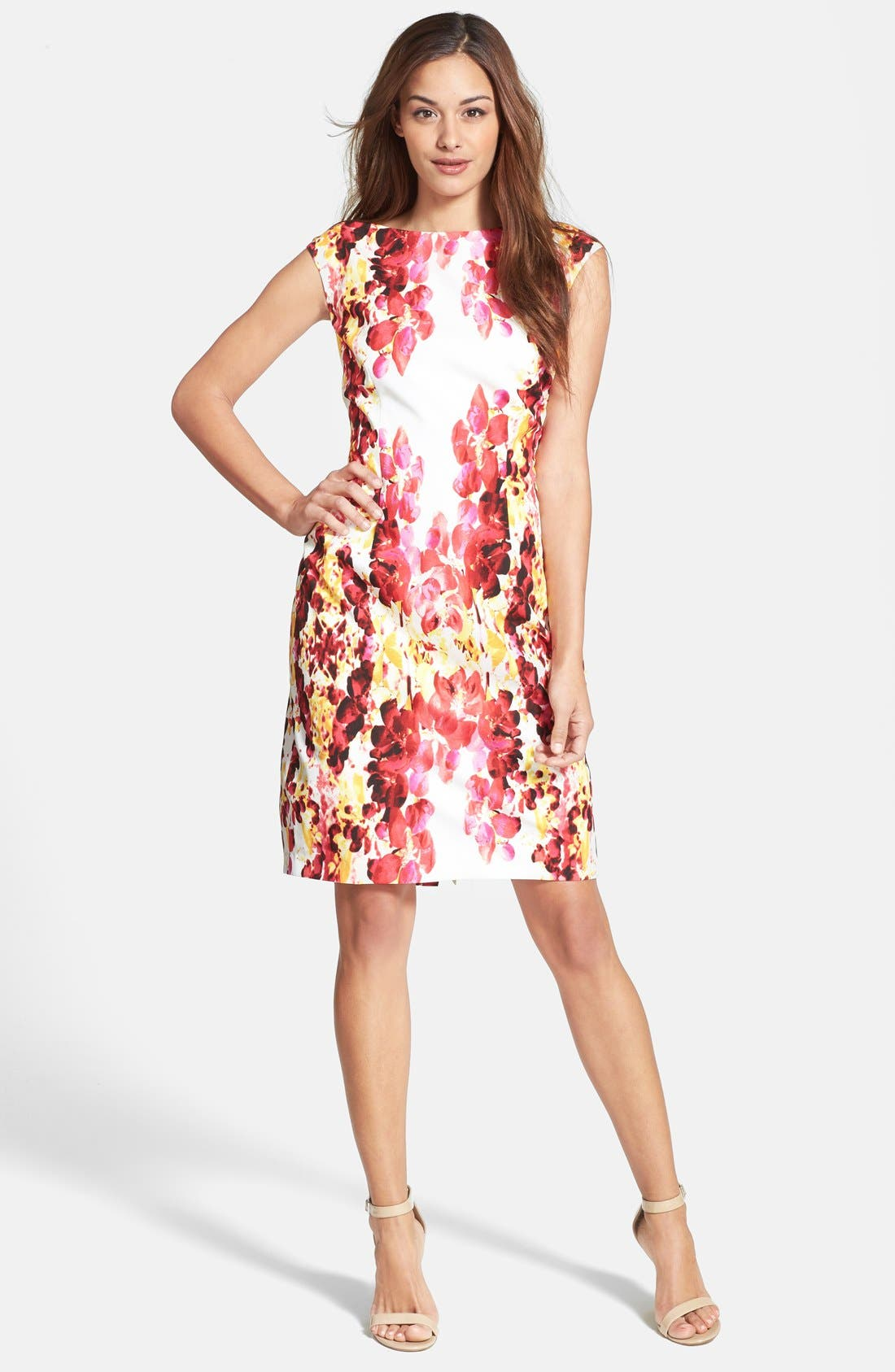 Alternate Image 2  - Adrianna Papell Floral Print Sheath Dress