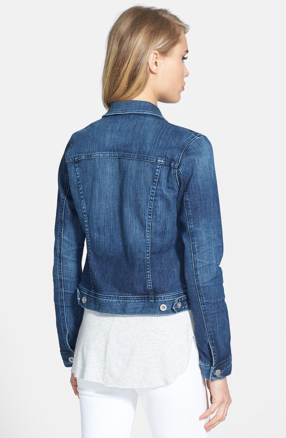 'Robyn' Denim Jacket,                             Alternate thumbnail 2, color,                             14 Years Surge