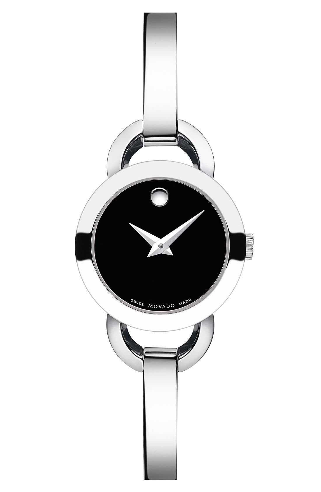 Alternate Image 1 Selected - Movado 'Rondiro' Small Round Bangle Watch, 22mm