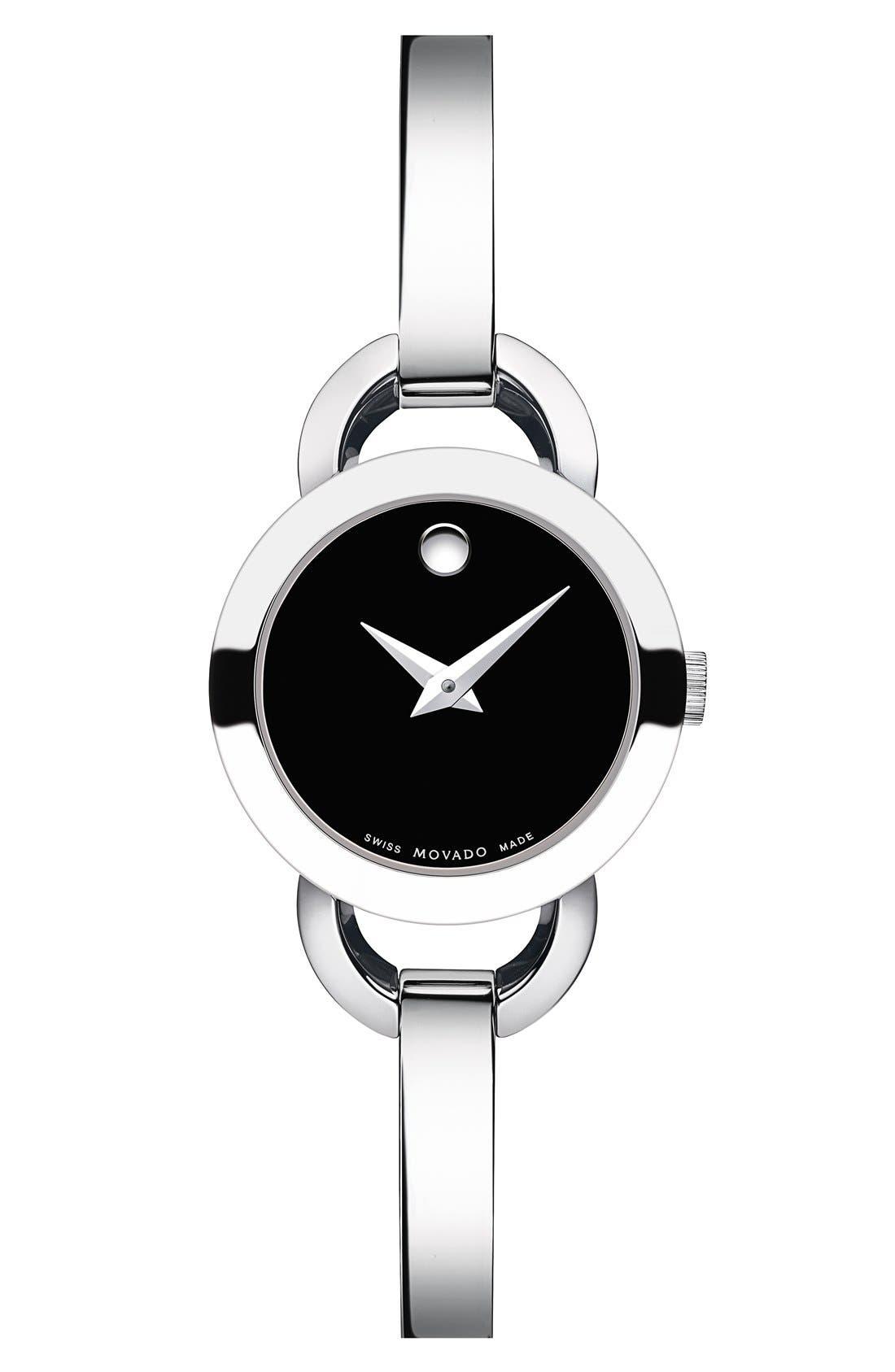 Movado 'Rondiro' Small Round Bangle Watch, 22mm