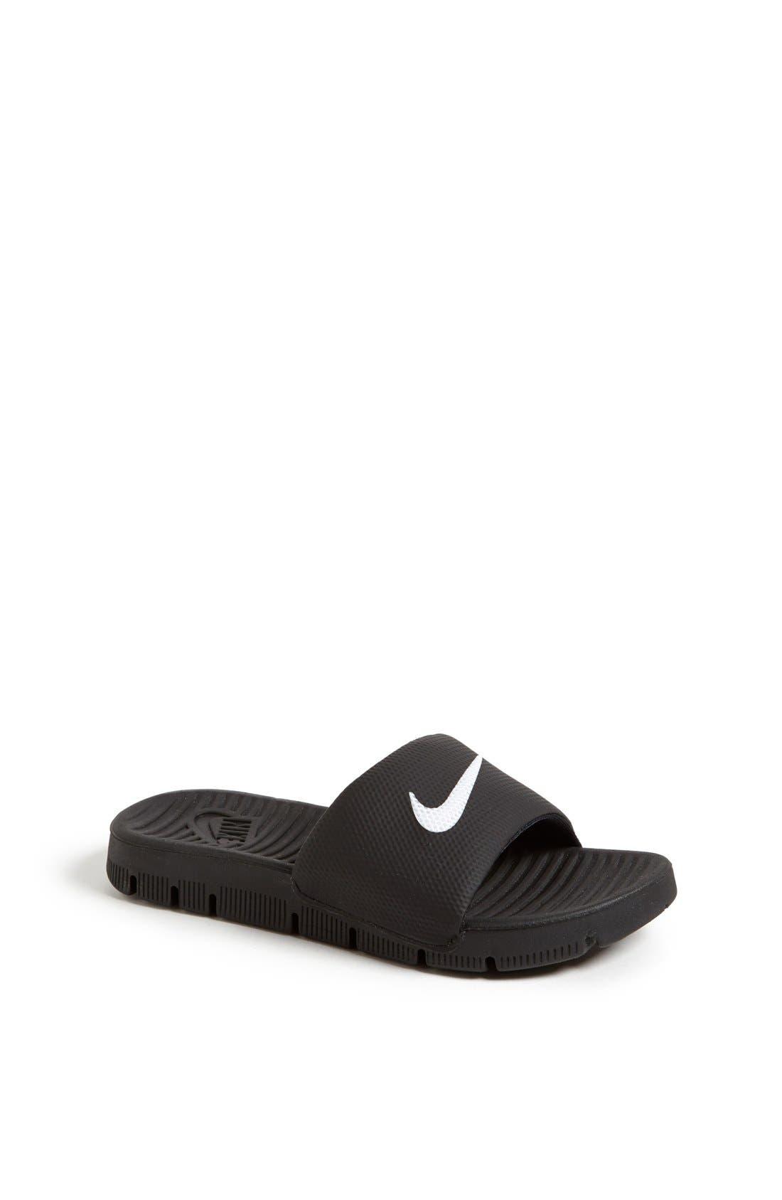 Alternate Image 1 Selected - Nike 'Flex Motion' Sandal (Little Kid & Big Kid)