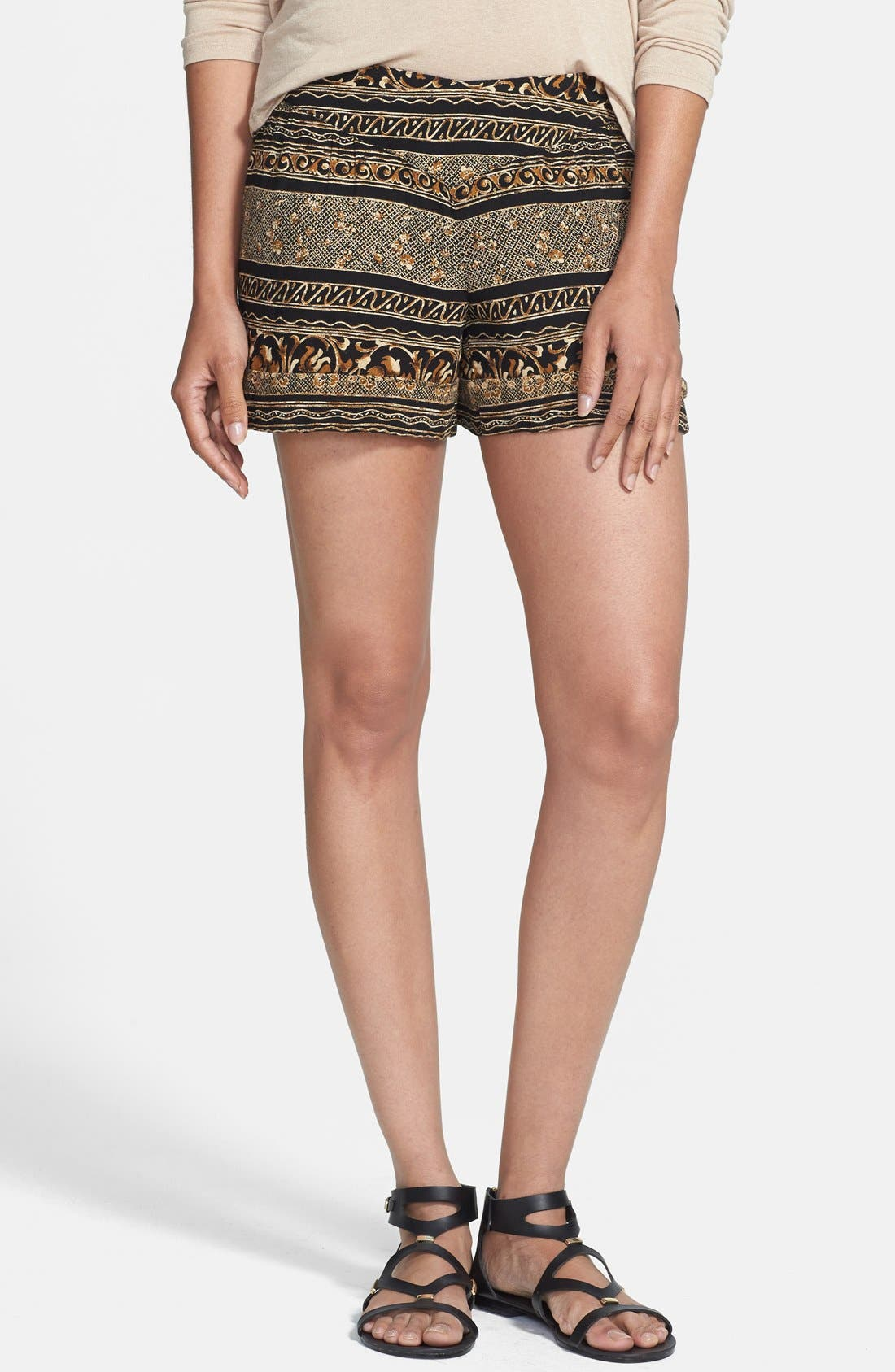 Print Shorts,                             Main thumbnail 1, color,                             Tribal Print