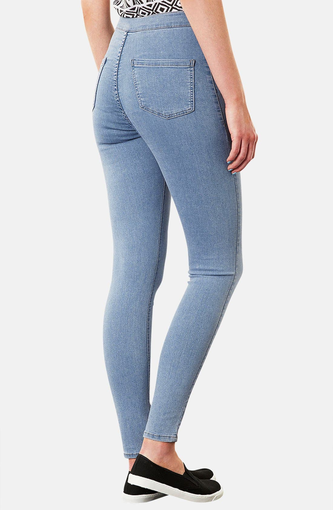 Alternate Image 2  - Topshop Moto 'Joni' High Rise Skinny Jeans (Mid Stone)