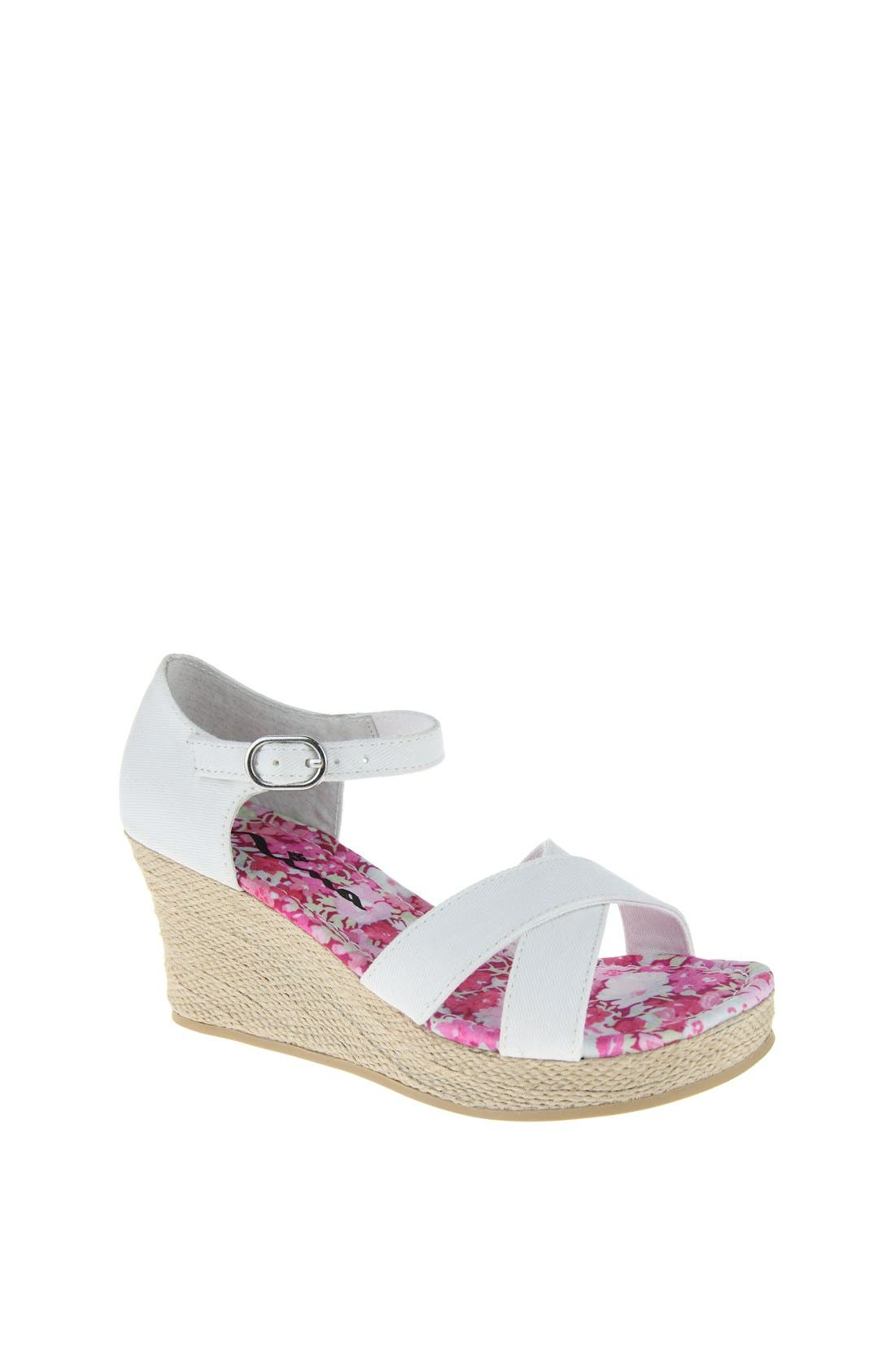 Alternate Image 1 Selected - Nina 'Ailani' Wedge Sandal (Little Kid & Big Kid)