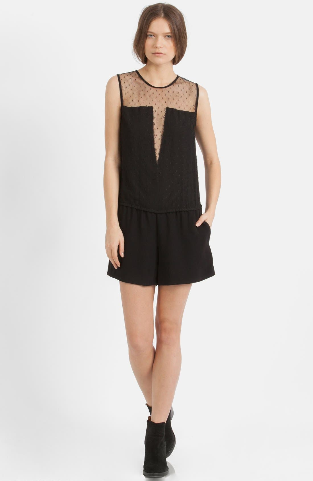 Alternate Image 1 Selected - maje Lace Yoke Romper