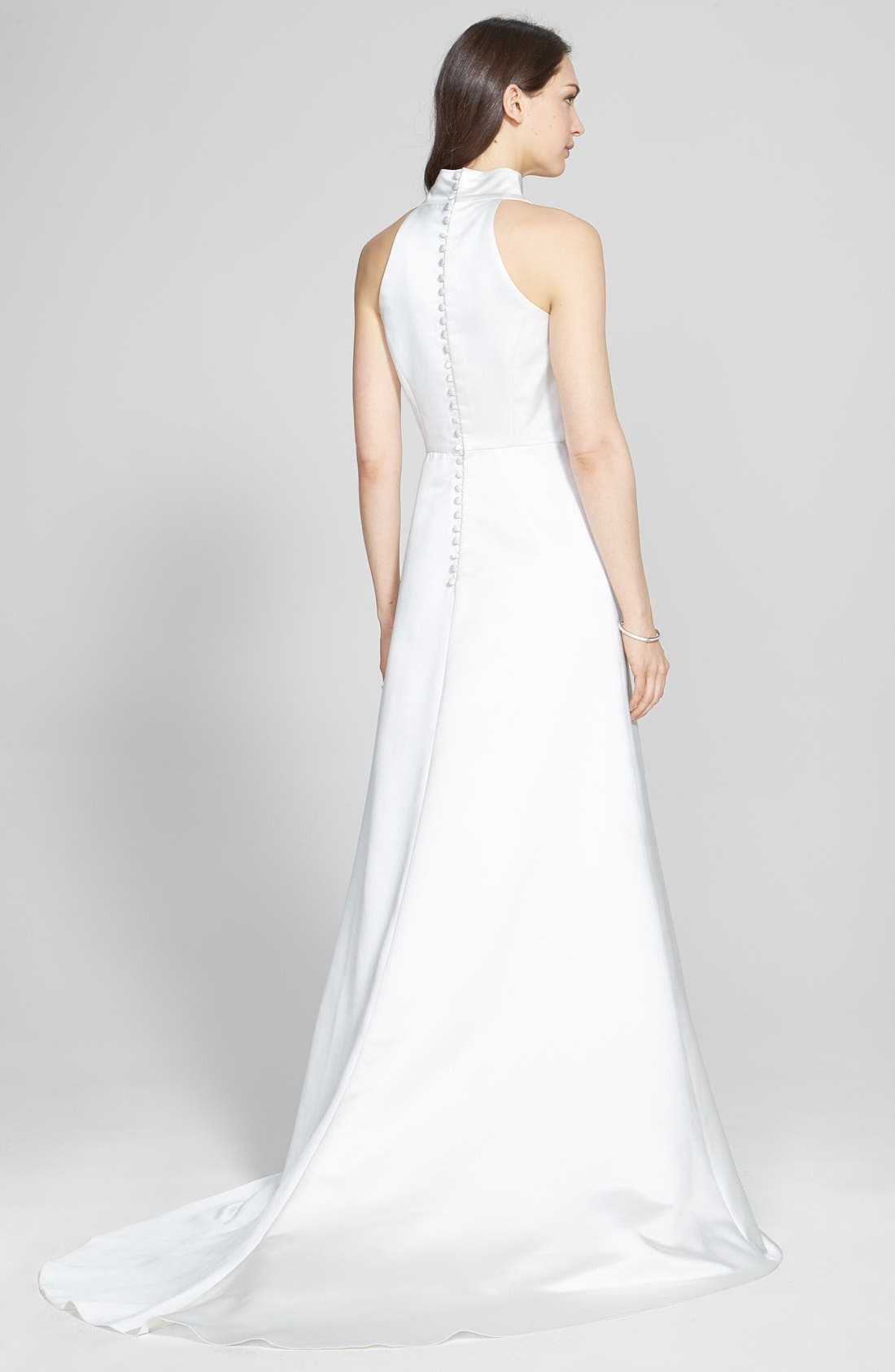 Alternate Image 2  - Jesús Peiró Satin Dress with Embellished Waist Overskirt