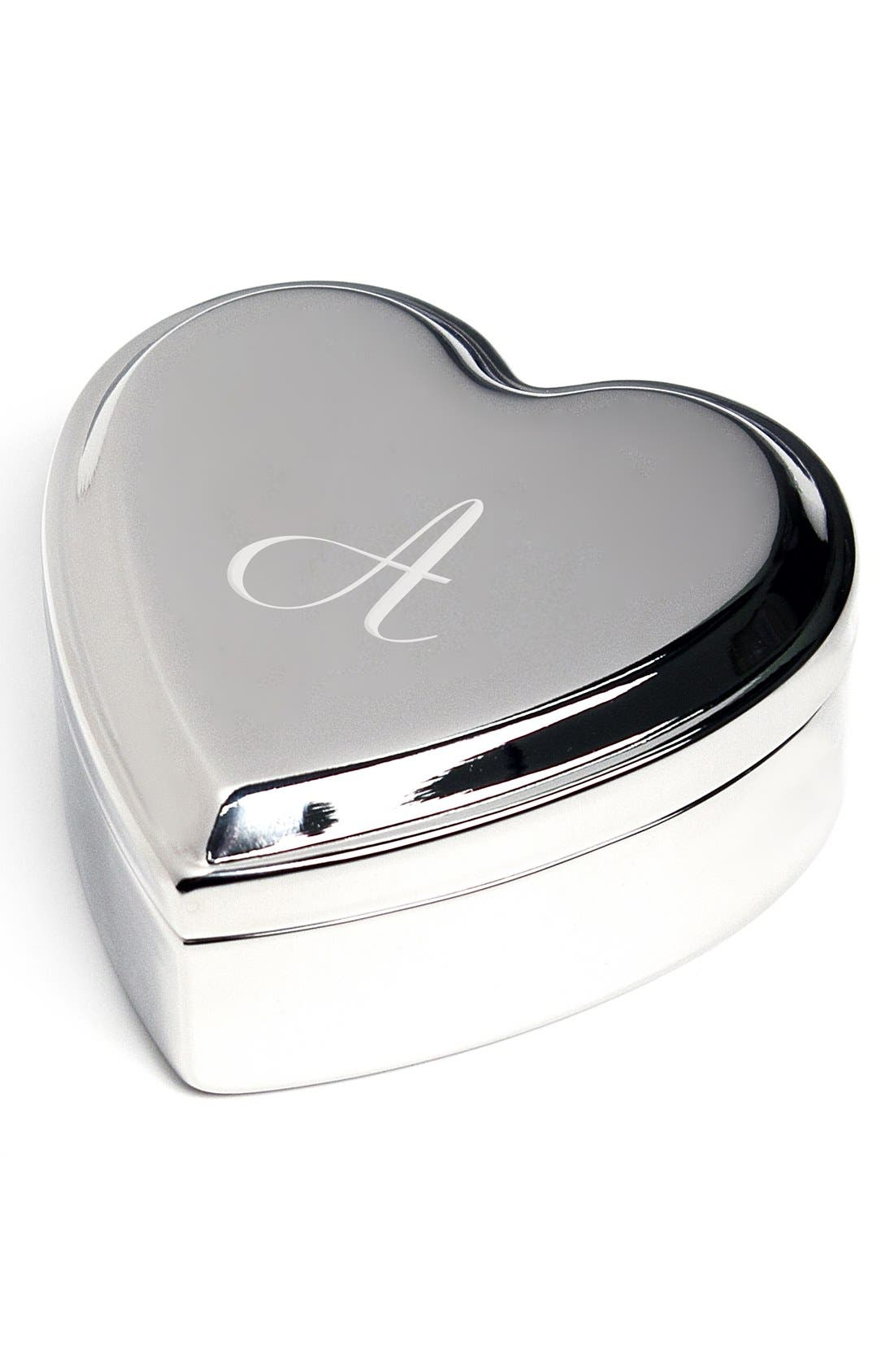 Cathys Concepts Monogram Heart Keepsake Box,                         Main,                         color, A