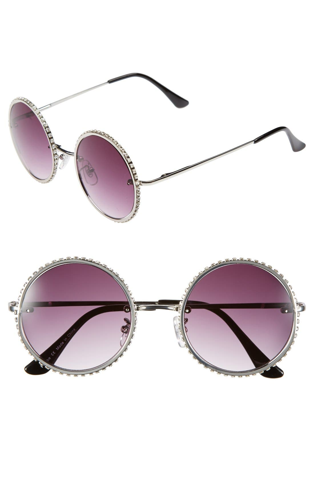 Main Image - Leith 48mm Butterfly Retro Sunglasses