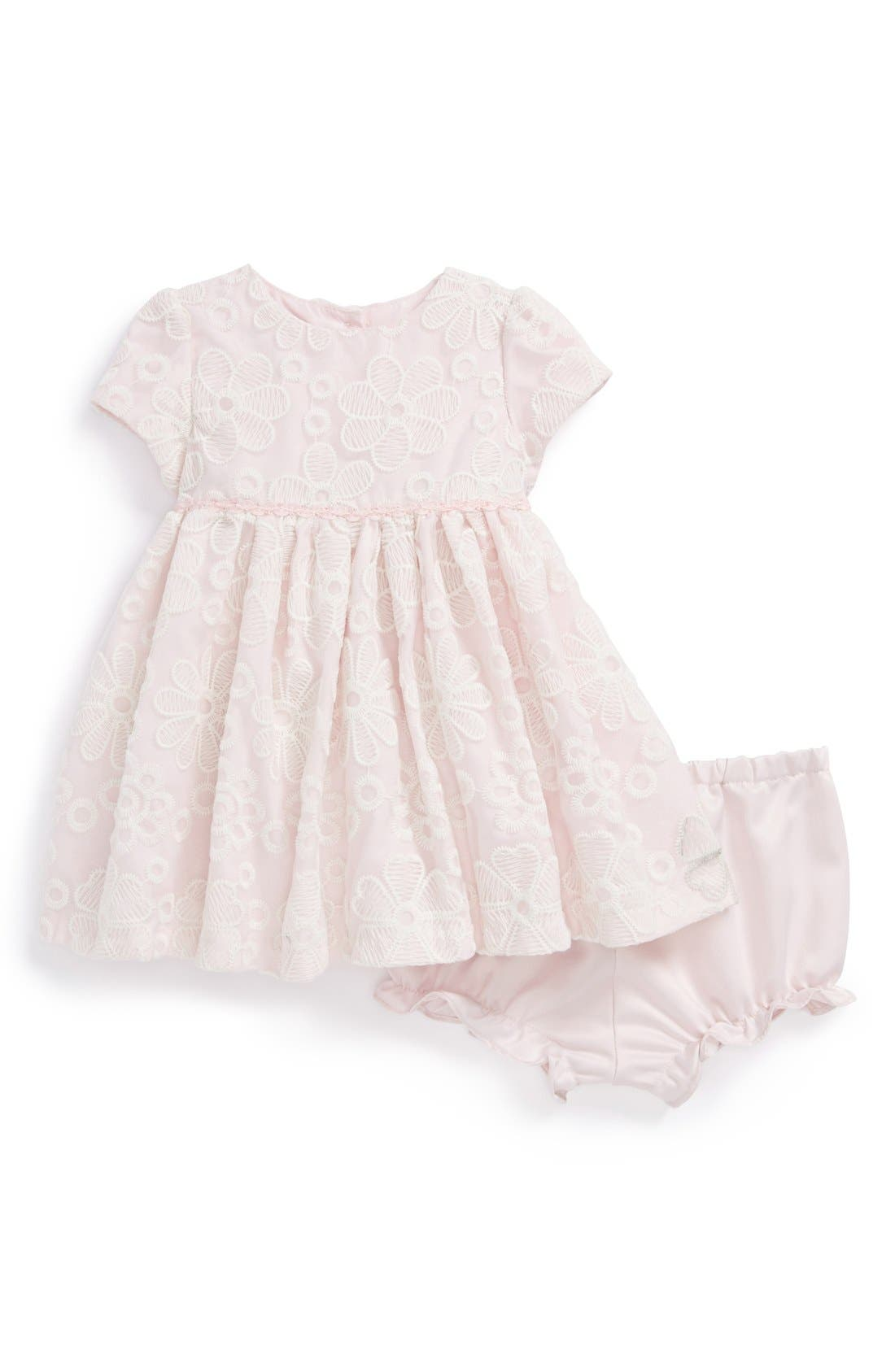 Main Image - Pippa & Julie Flower Lace Dress (Baby Girls)