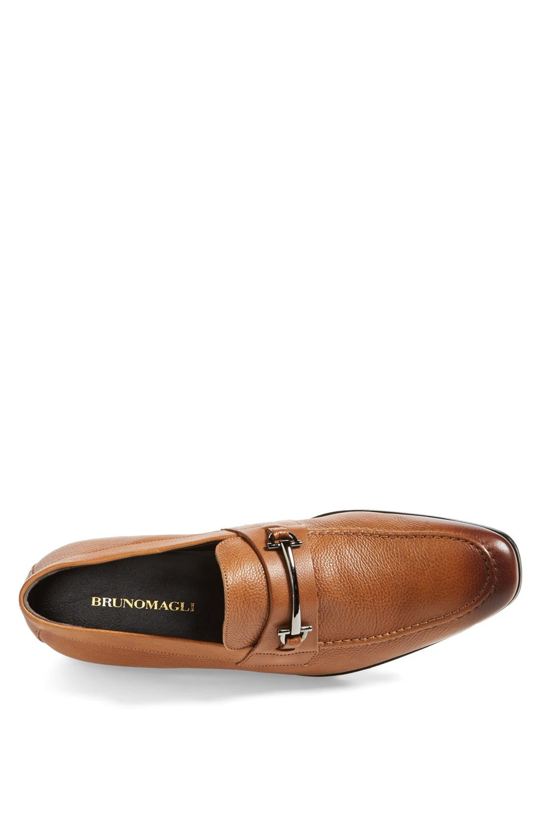 'Mamante II' Pebbled Leather Loafer,                             Alternate thumbnail 3, color,                             Light Brown