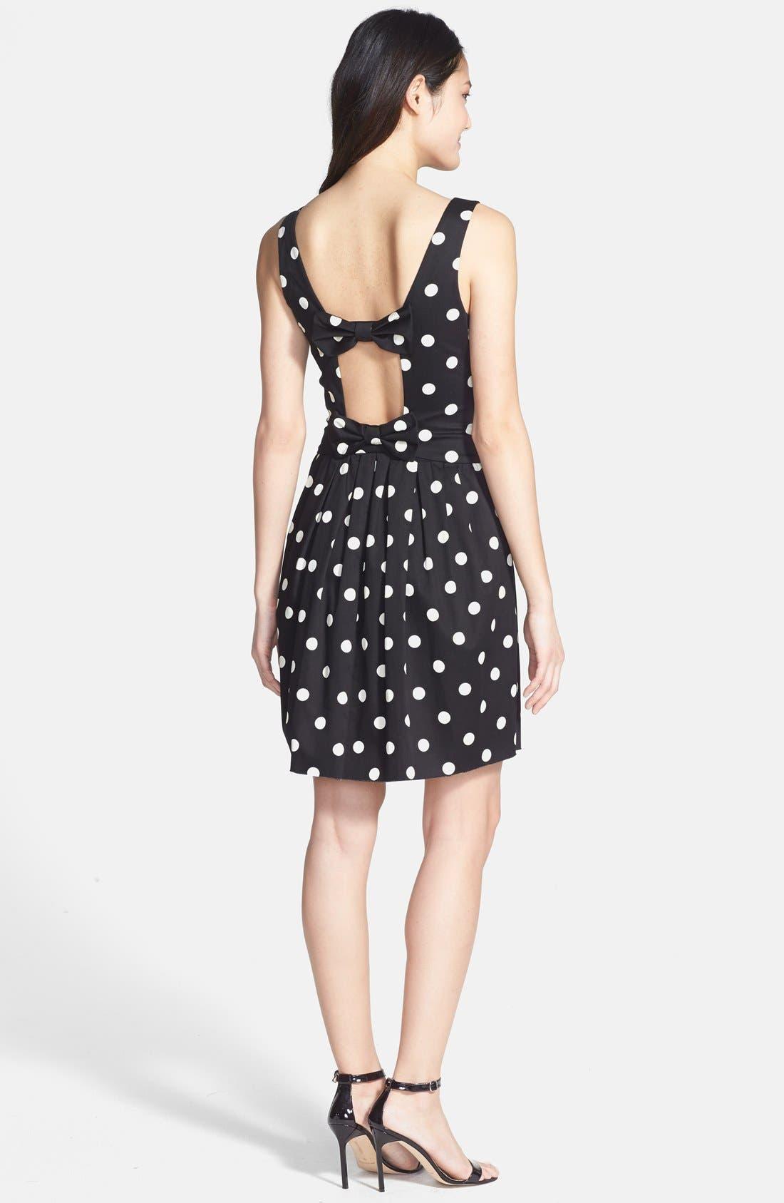 Alternate Image 3  - Betsey Johnson Polka Dot Bow Detail Fit & Flare Dress