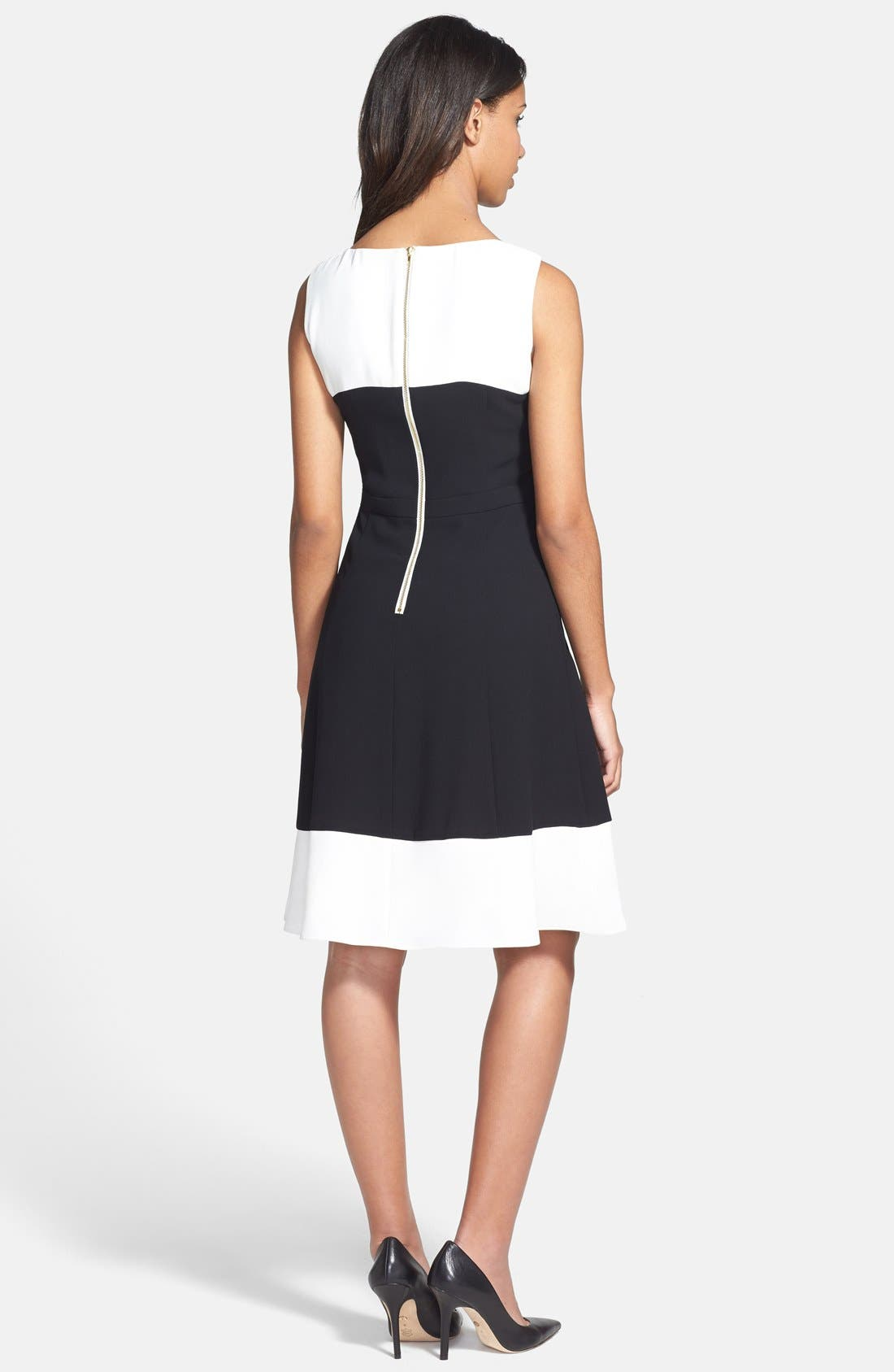 Alternate Image 3  - Ivanka Trump Crepe Fit & Flare Dress