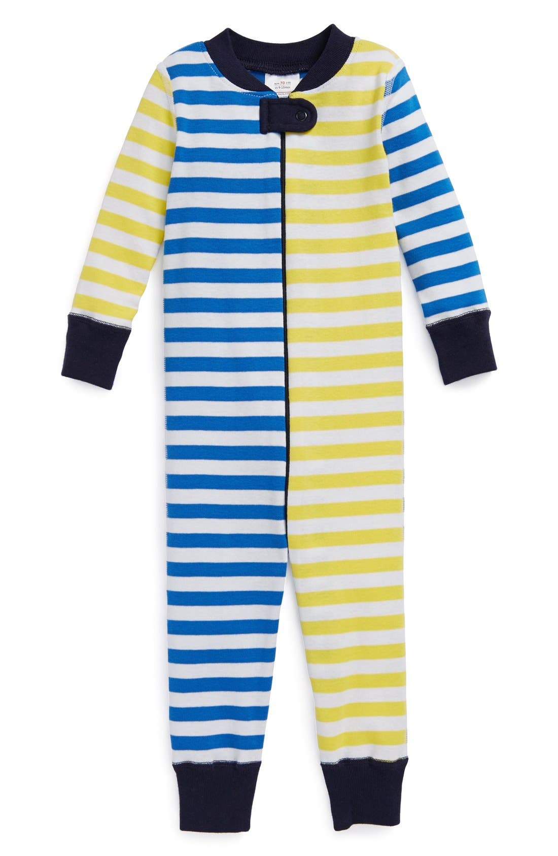 Alternate Image 1 Selected - Hanna Andersson 'Mix It Up' Fitted Organic Cotton Romper (Baby Boys)