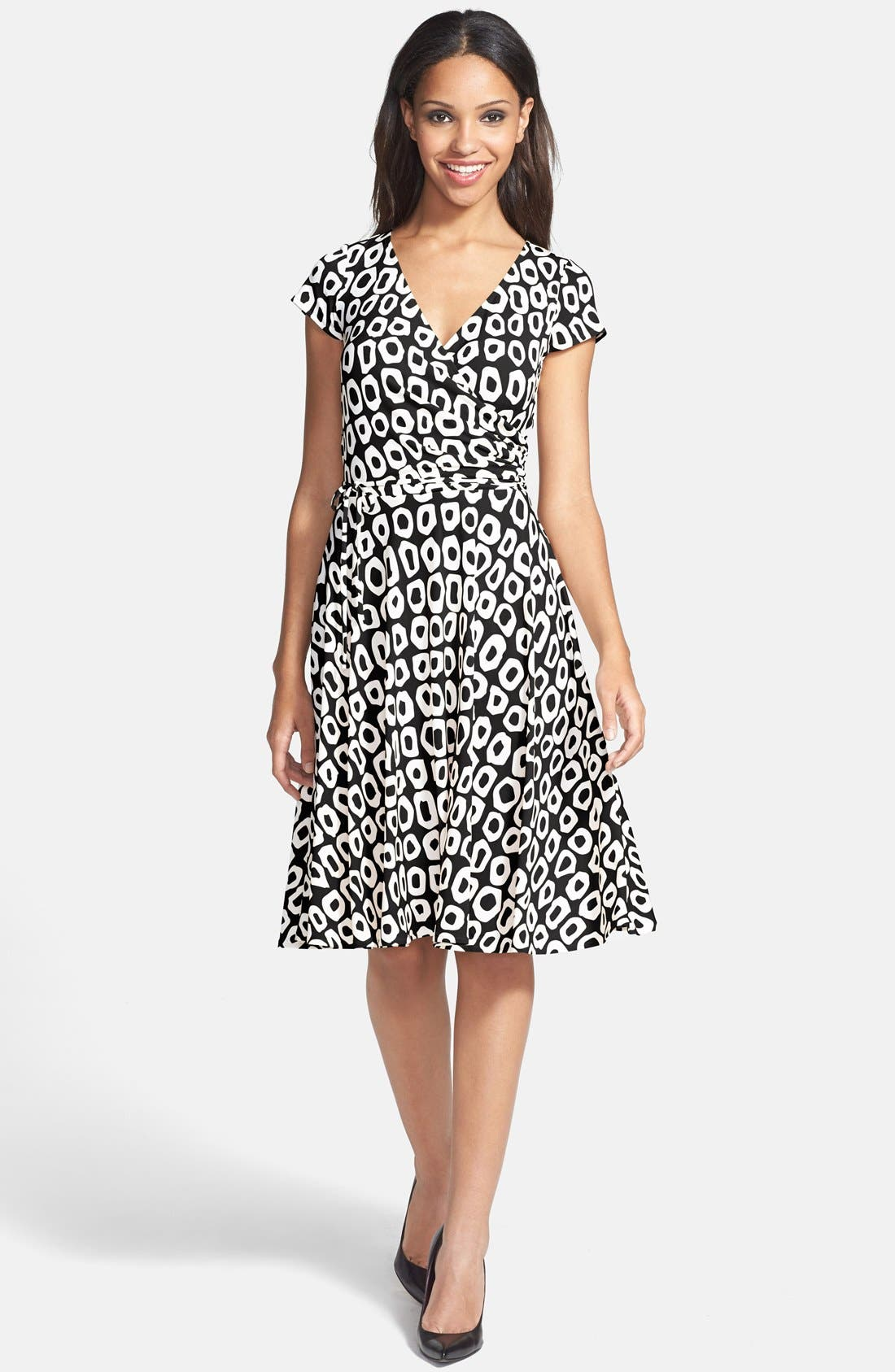 Main Image - Maggy London Print Jersey Fit & Flare Dress