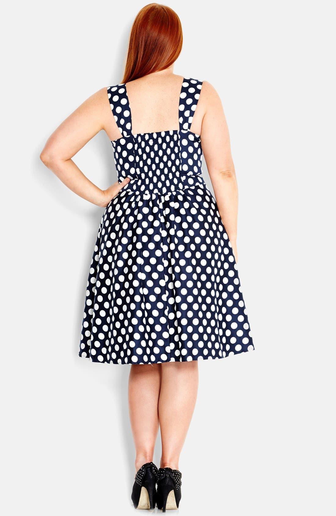 Alternate Image 2  - City Chic 'Spotty Fun' Fit & Flare Dress (Plus Size)